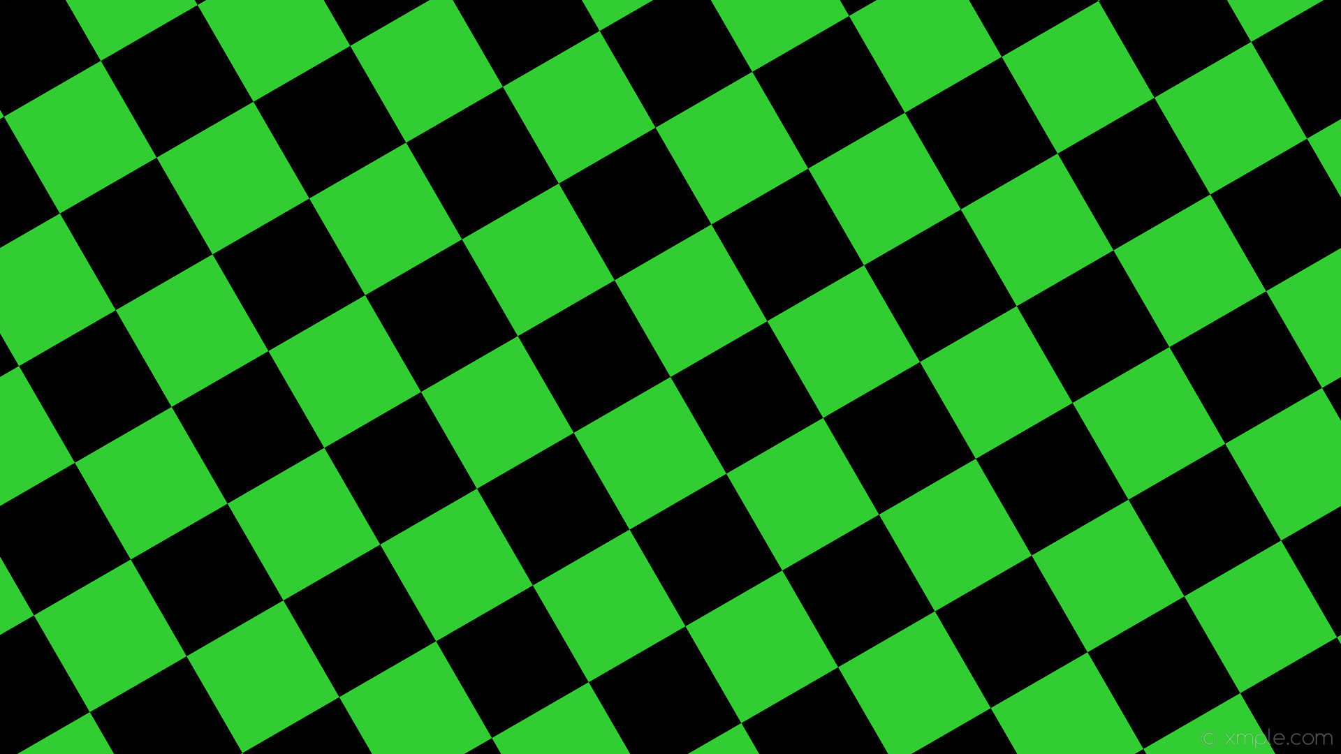 Lime Green And Black Checkered Background