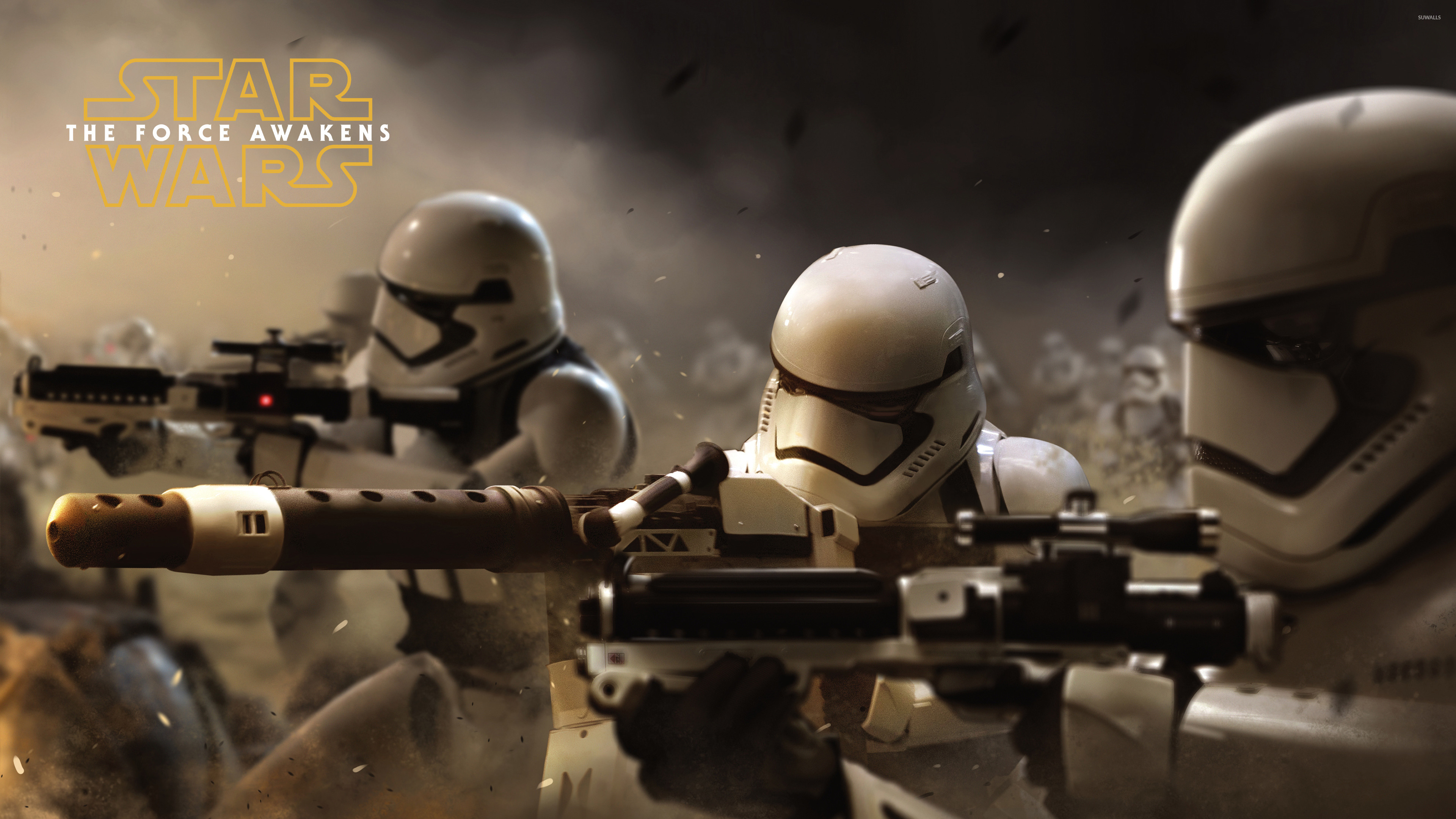 3840x2160 Stormtroopers in Star Wars: The Force Awakens wallpaper