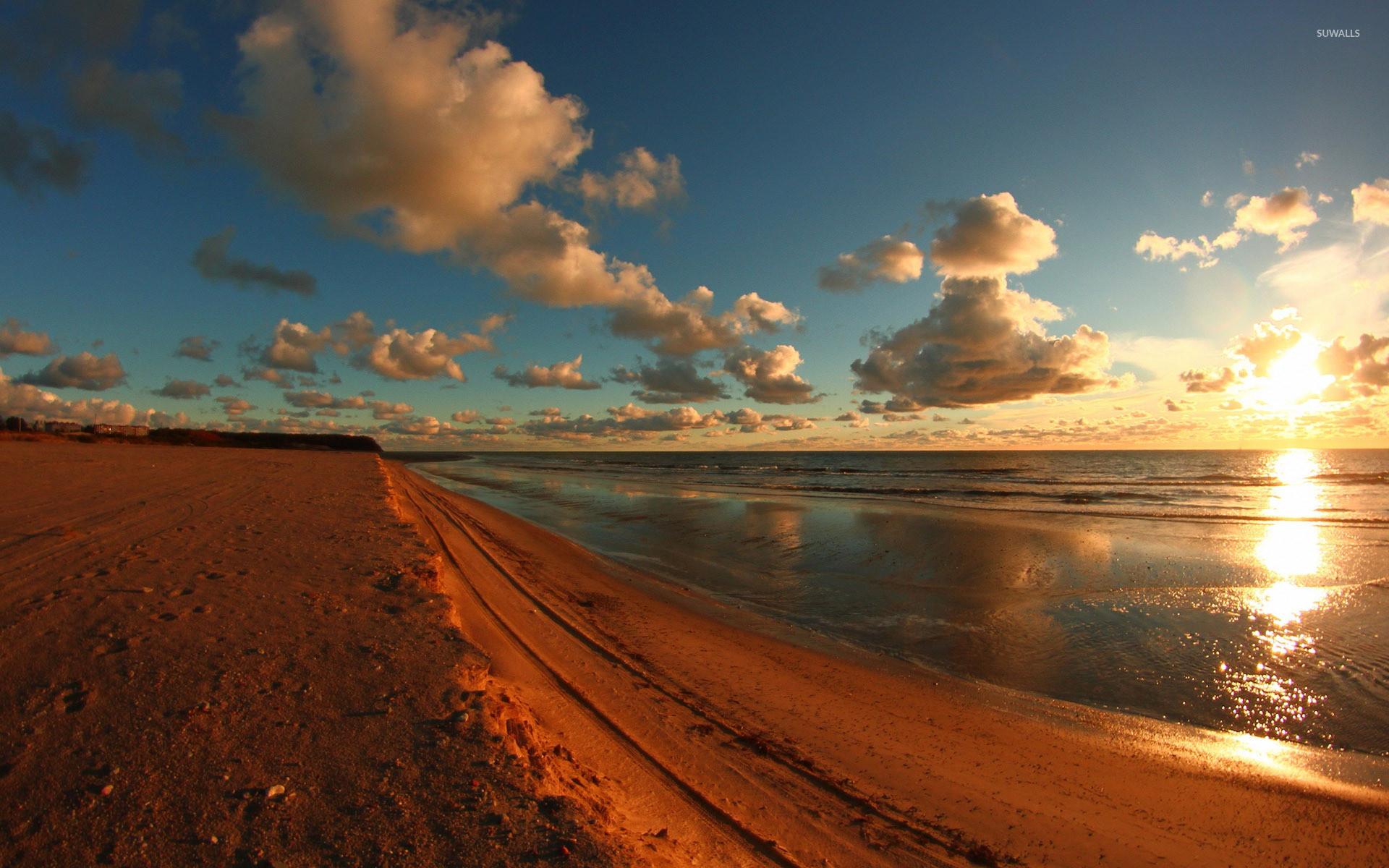 1920x1080 Beach Sunrise Wallpaper Desktop Sunset
