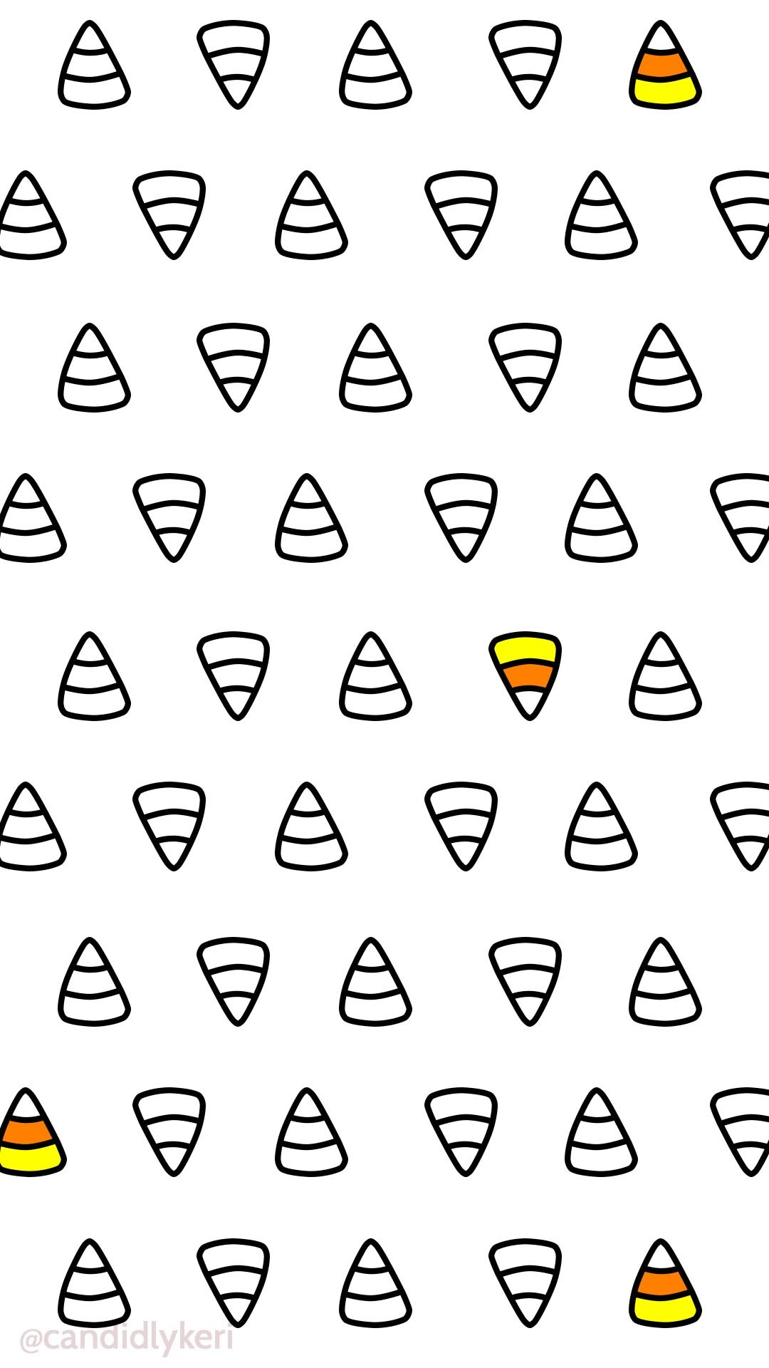 1080x1920 Cute Halloween Candy Corn October 2016 wallpaper you can download for free  on the blog!