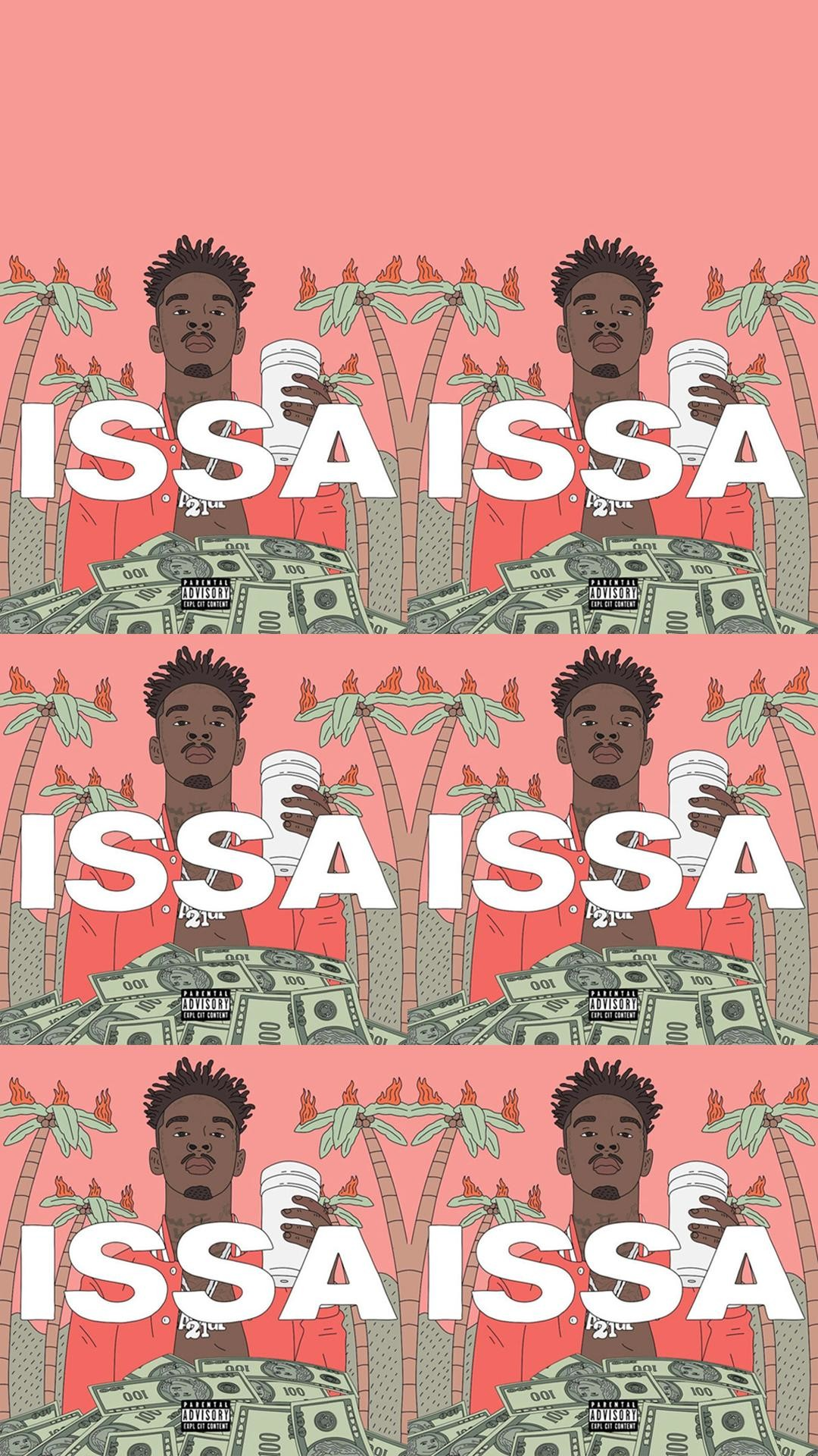 1080x1920 21 Savage ISSA album Phone wallpapers (different variations)