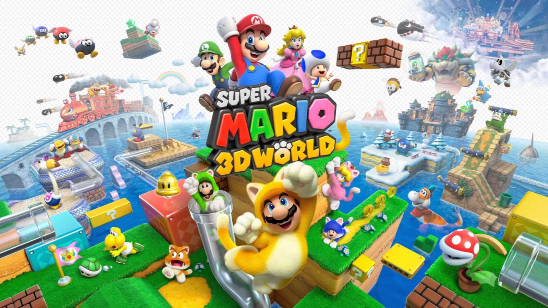 1920x1080 Super Mario 3D World Map