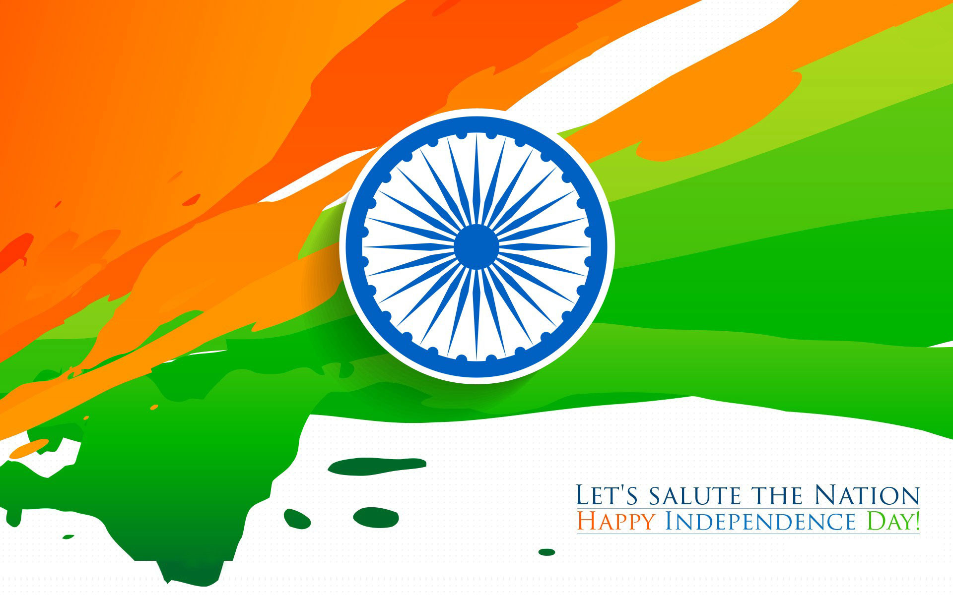 1920x1200 Happy Independence Day Indian Flag Tricolor HD Wallpaper