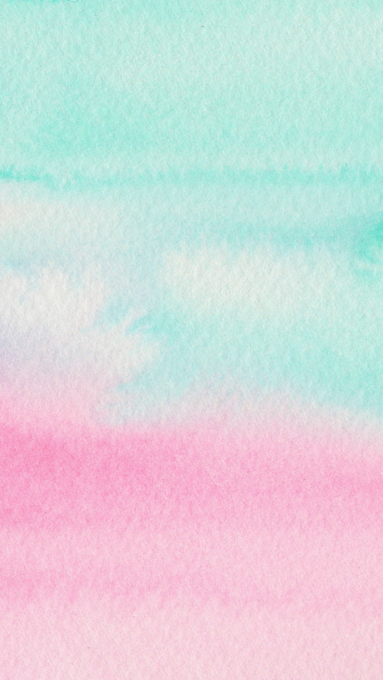 1333x2367 Mint Aqua Pink Watercolour Ombre Texture Iphone Wallpaper Phone Background Lock