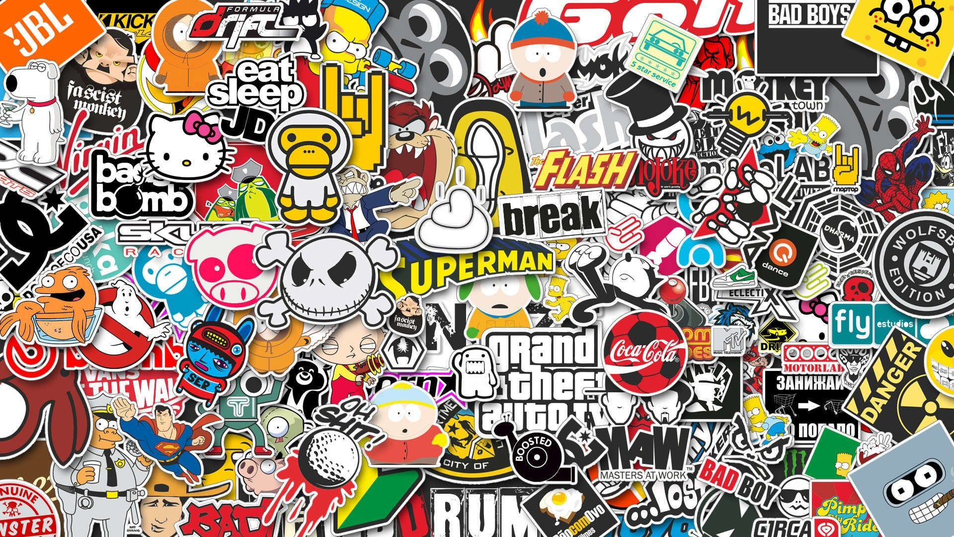 Cool Stickers Wallpaper
