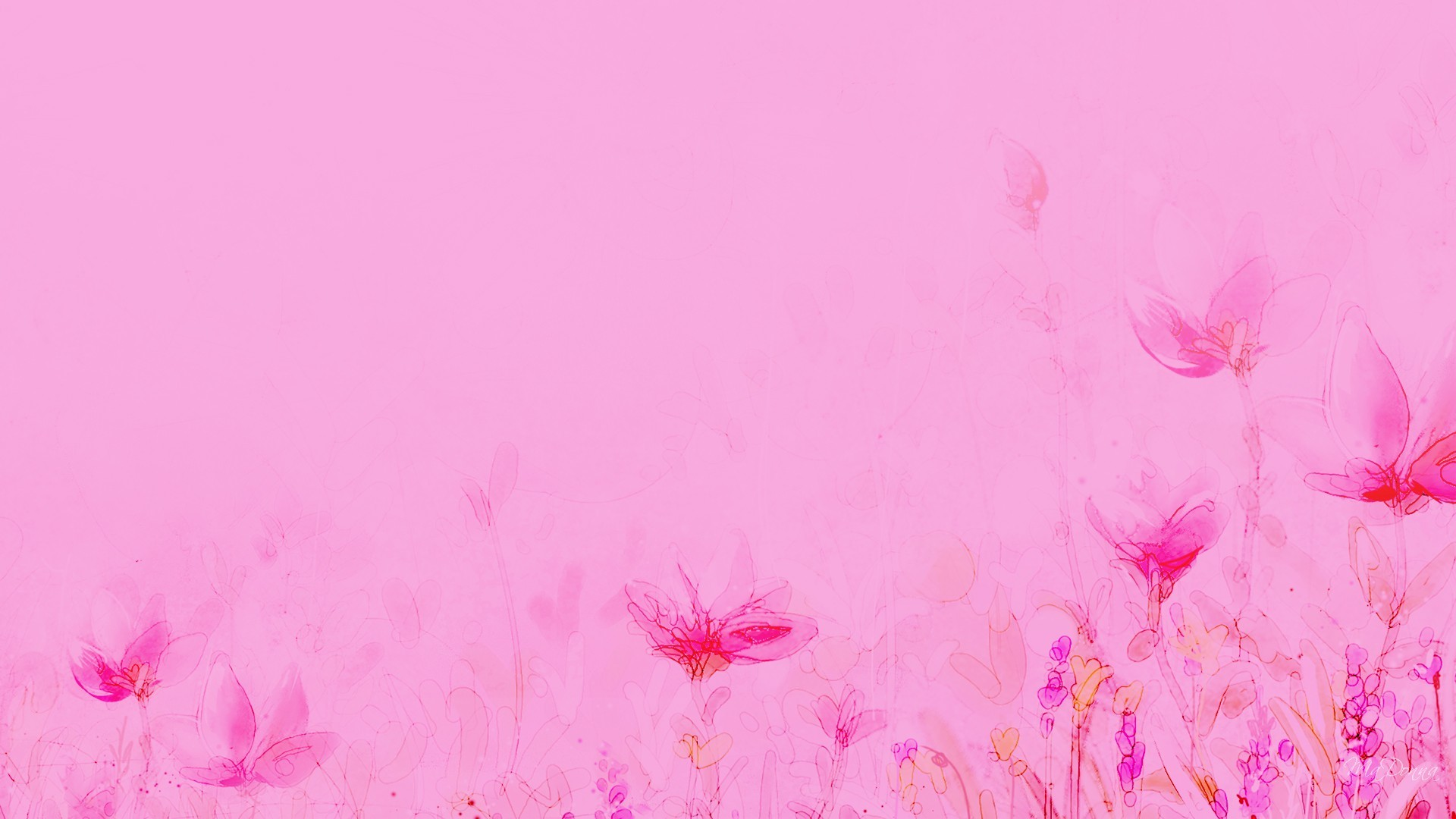 1920x1080 Wallpapers For > Light Pink Floral Wallpaper