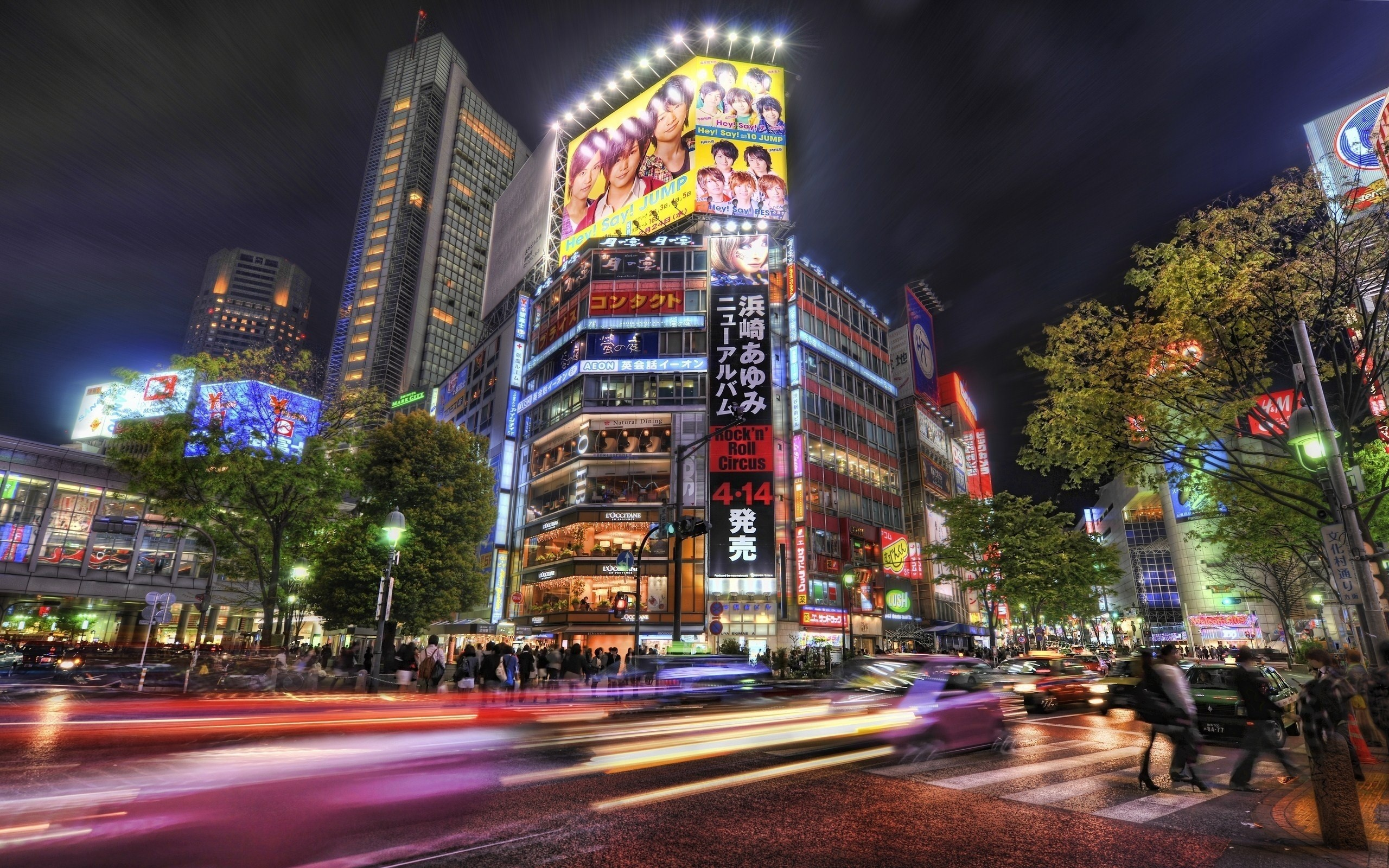 2560x1600  Wallpaper mean streets, japan, tokyo, night, hdr