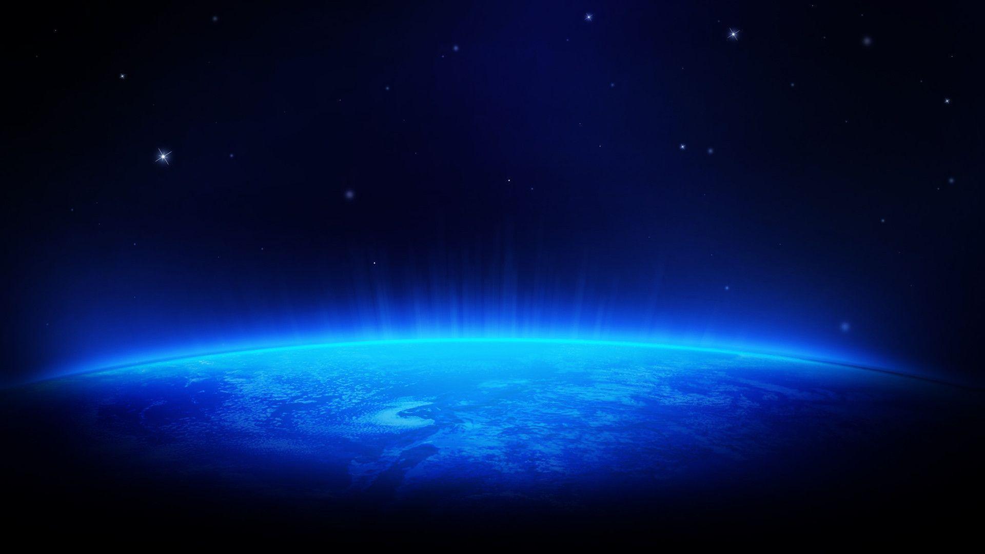 Galaxy Dark Blue Wallpaper Hd 1080p