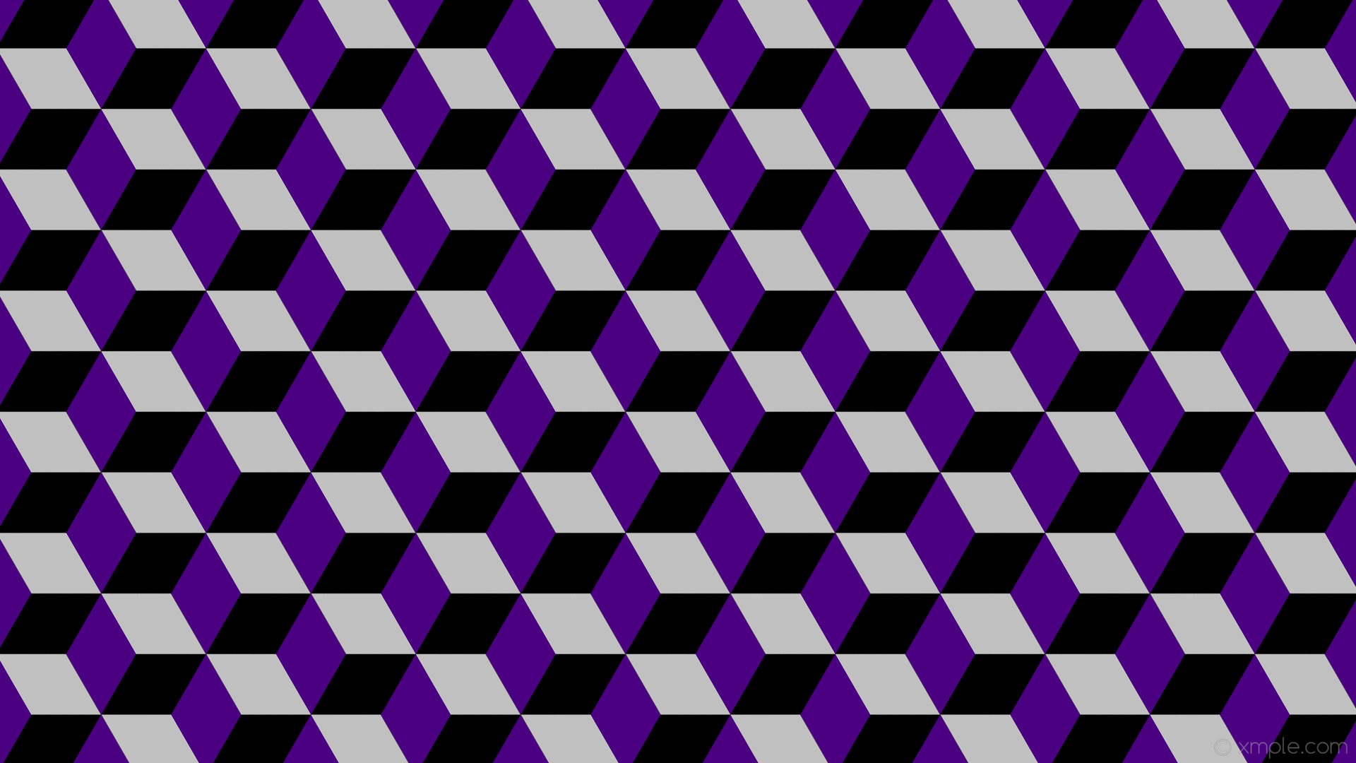 1920x1080 Black Purple And Silver Wallpaper