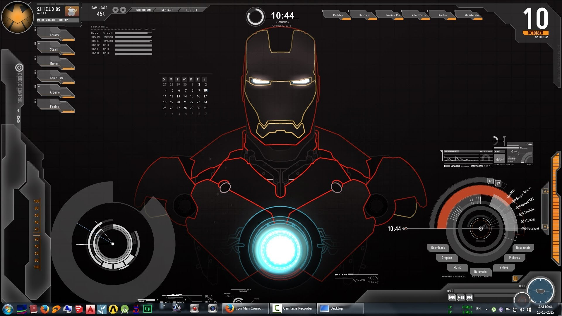 1920x1080 It would be great if anyone could build an Iron Man Theme which look .