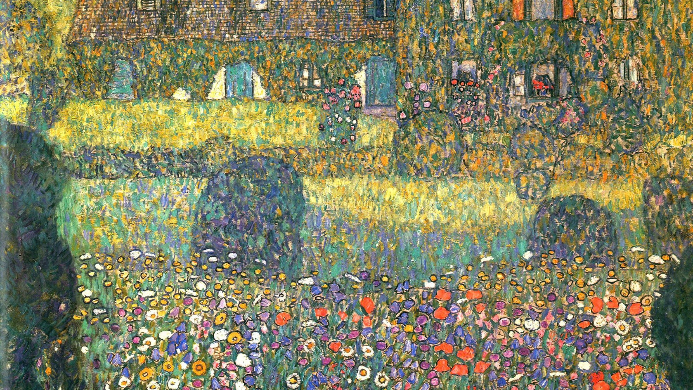 2400x1350 Painting of Gustav Klimt - Backyard