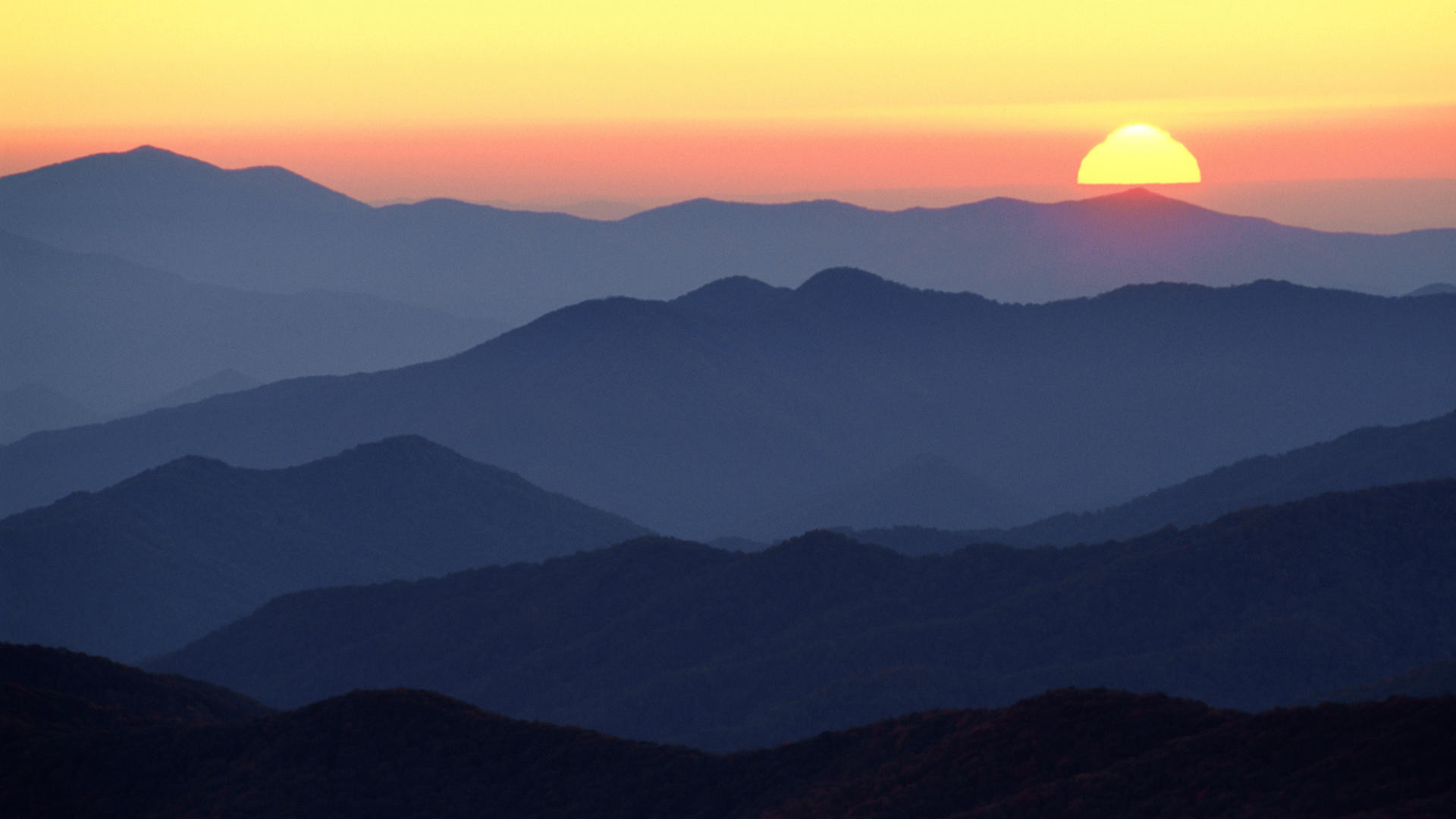 1920x1080 Download Background Great Smoky Mountains at Sunset Tennessee