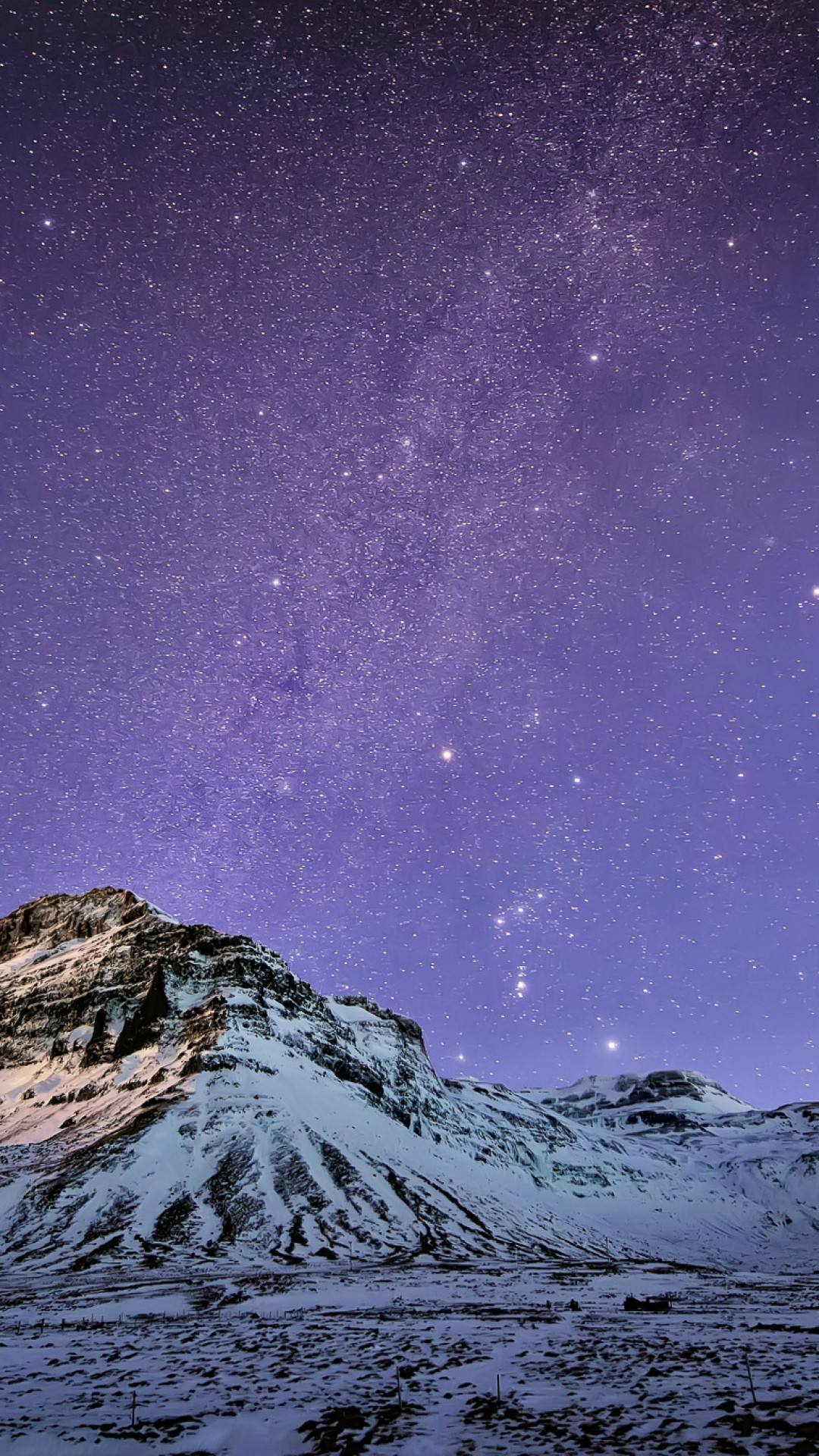 1080x1920 Snow Mountain Stars Skyscape #iPhone #7 #wallpaper