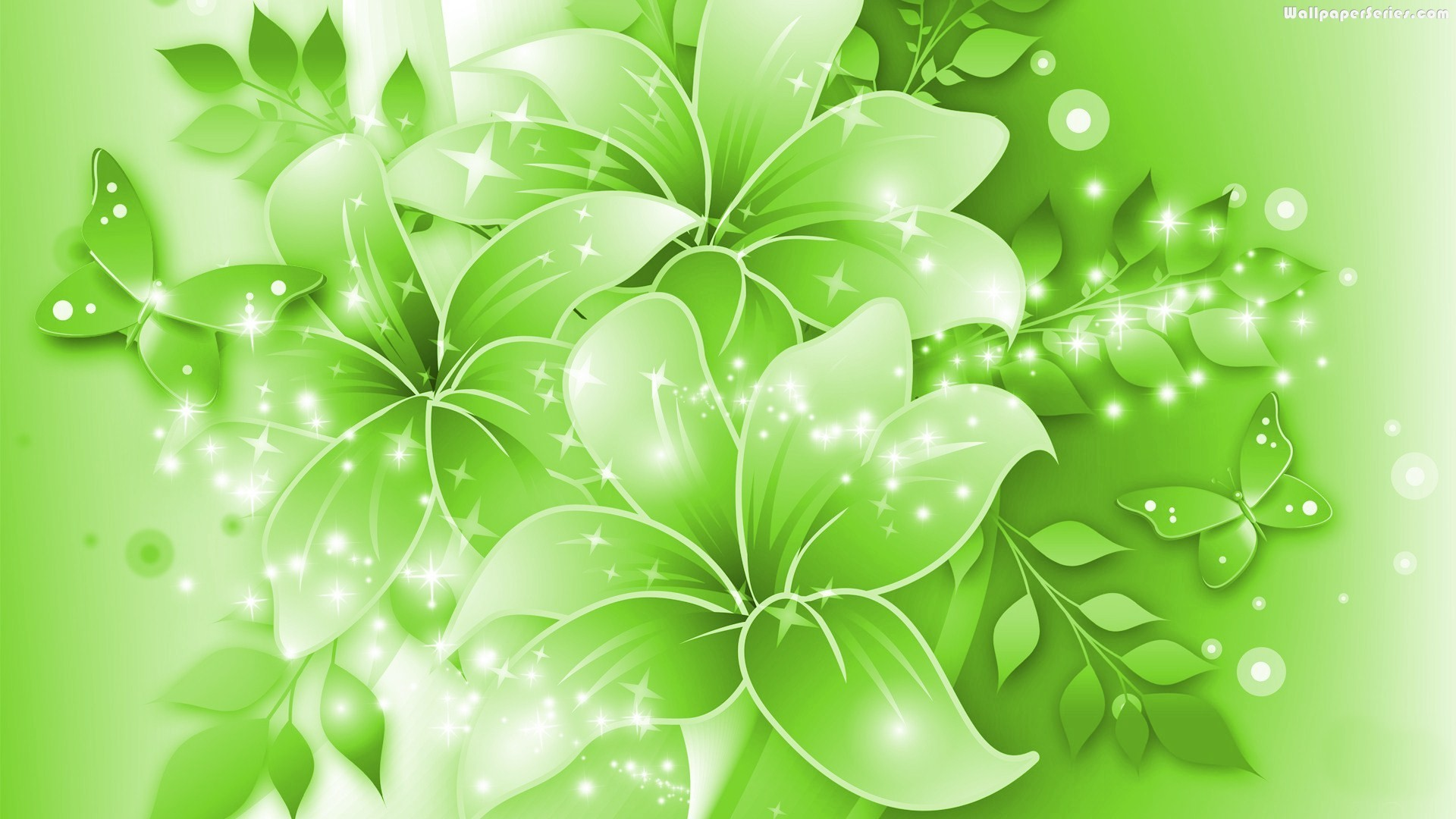 1920x1080 animated green flower image