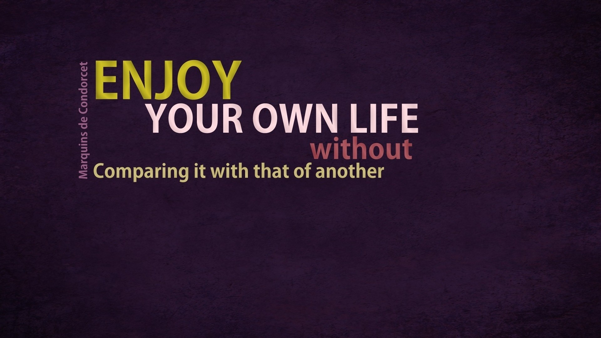 1920x1080 Enjoy your life quote