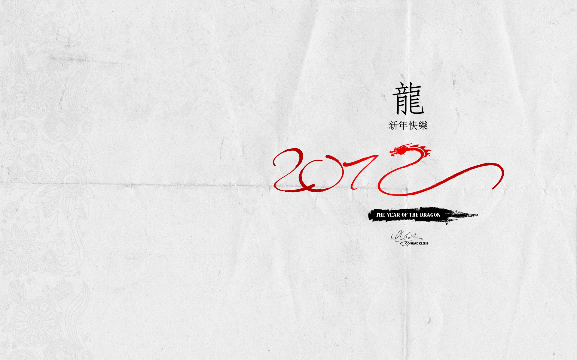 1920x1200 2012 Chinese New Year Wallpaper