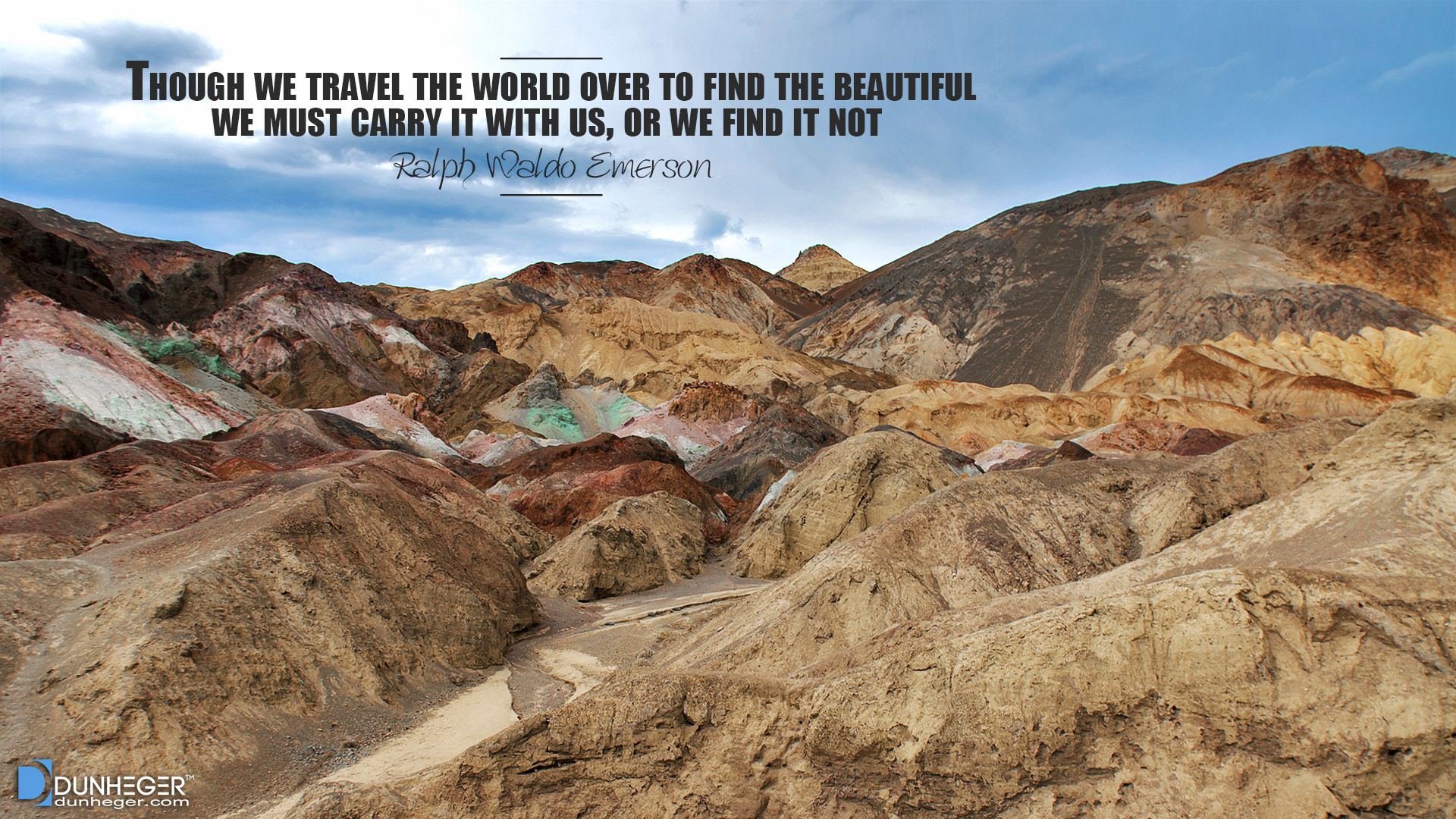 1920x1080 Death Valley, Ralph Waldo Emerson, Travel Quotes, Dunheger
