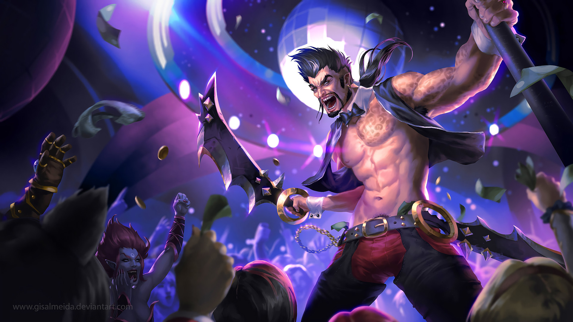 1920x1080 Sexy Go Go Draven by GisAlmeida HD Wallpaper Fan Art Artwork League of  Legends lol
