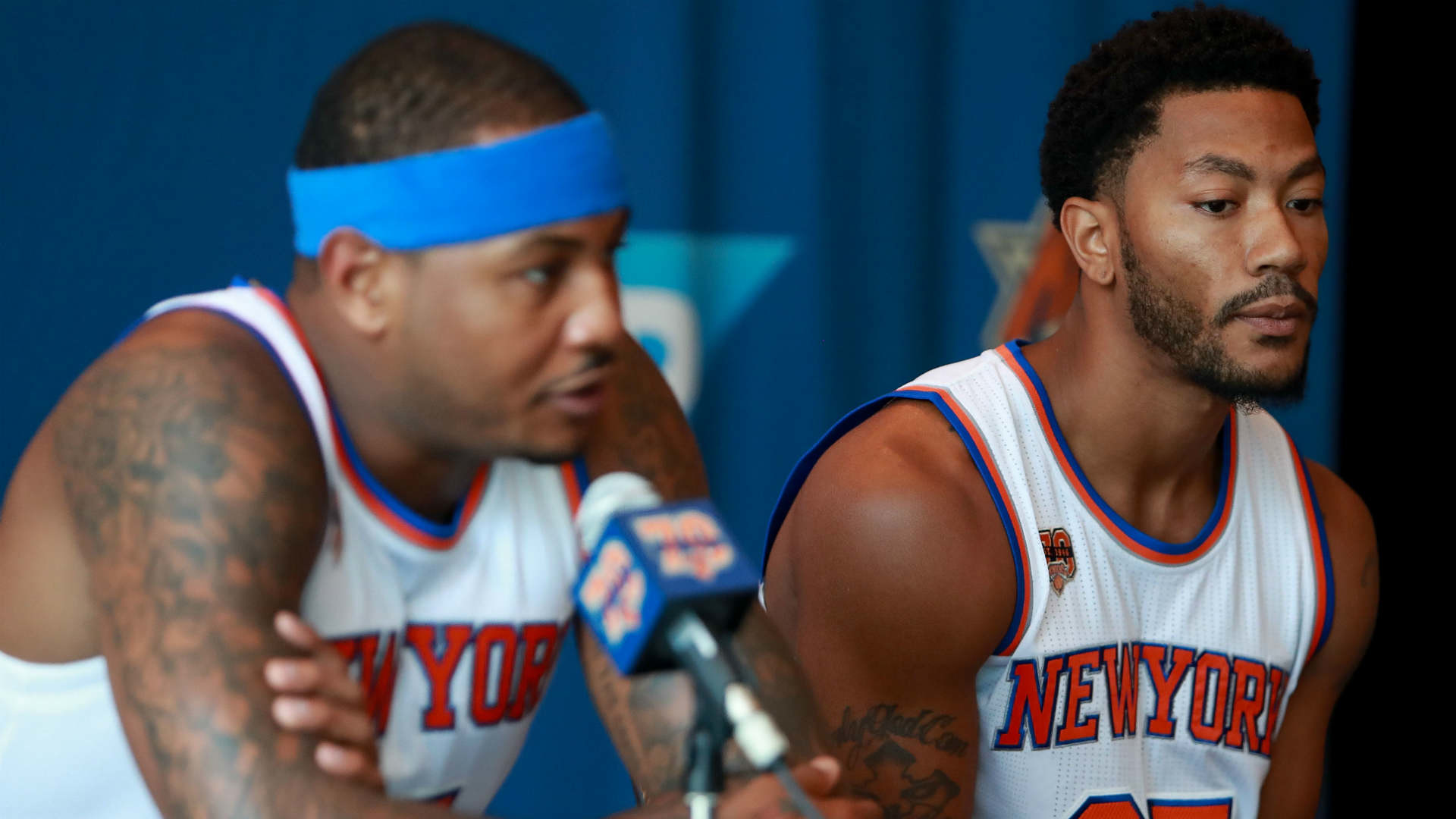 1920x1080 Knicks' Derrick Rose doesn't mind playing second fiddle to Carmelo Anthony  | NBA | Sporting News