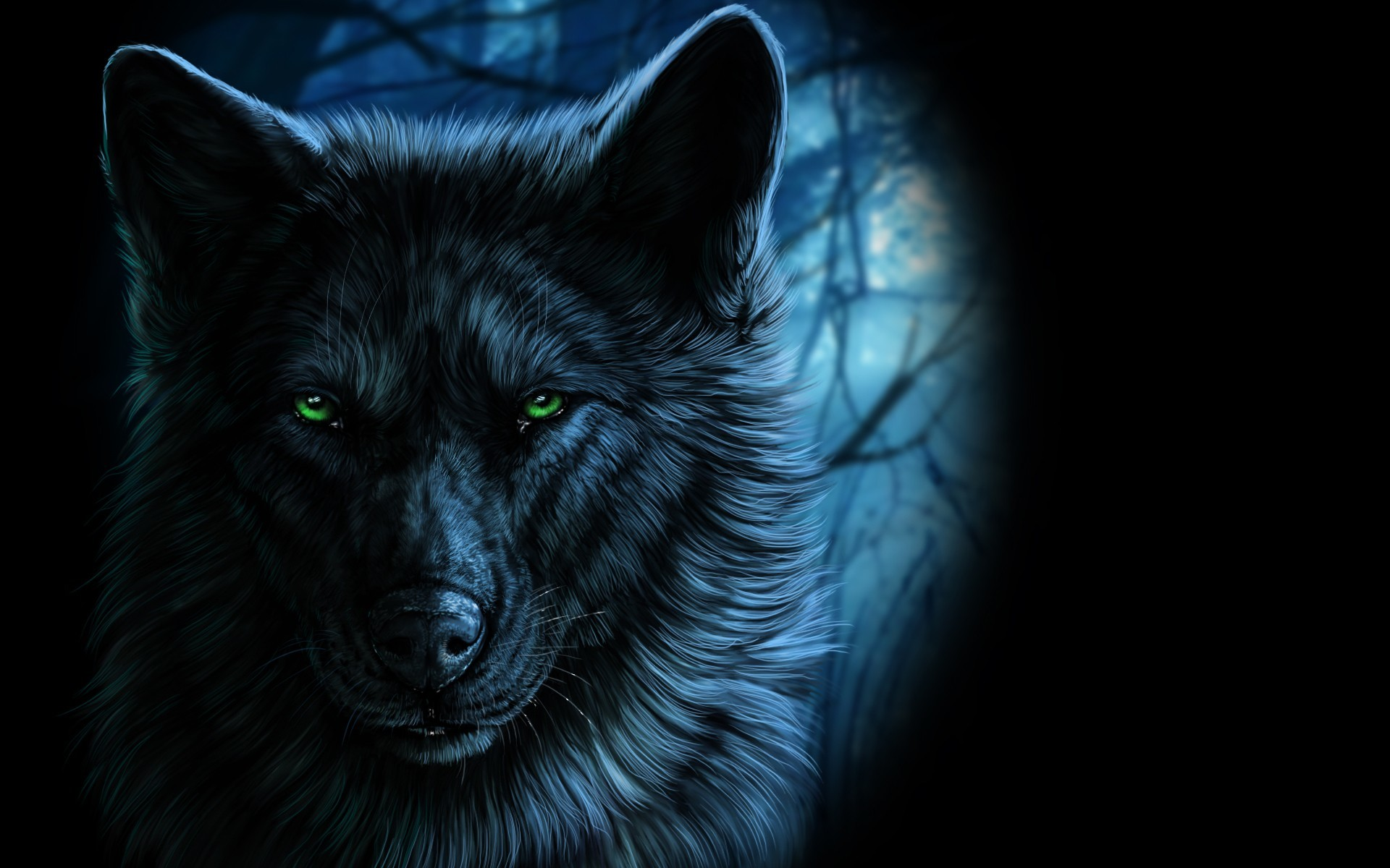 1920x1200 wolf, Fantasy art, Animals, Artwork Wallpapers HD / Desktop and Mobile  Backgrounds