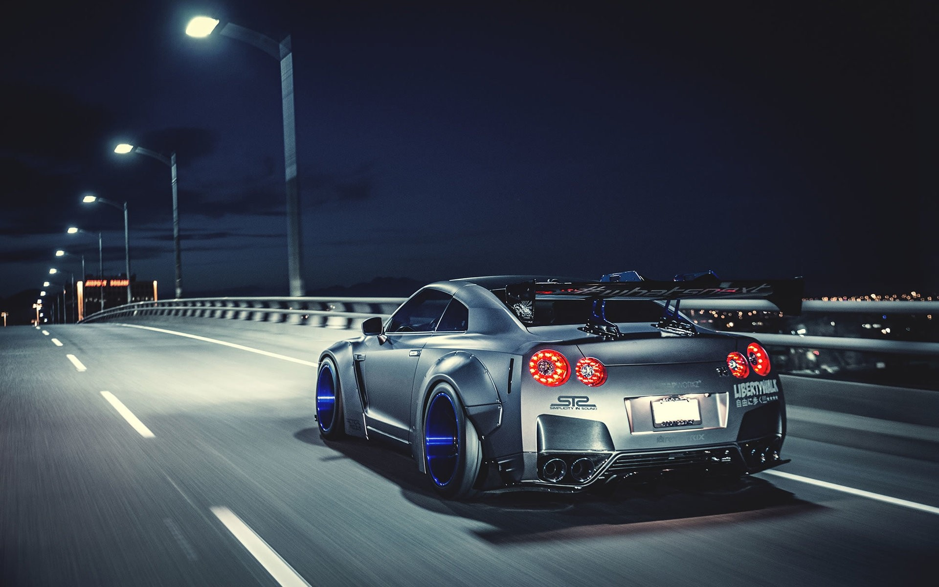 1920x1200 Nissan GTR Liberty Walk Wallpaper