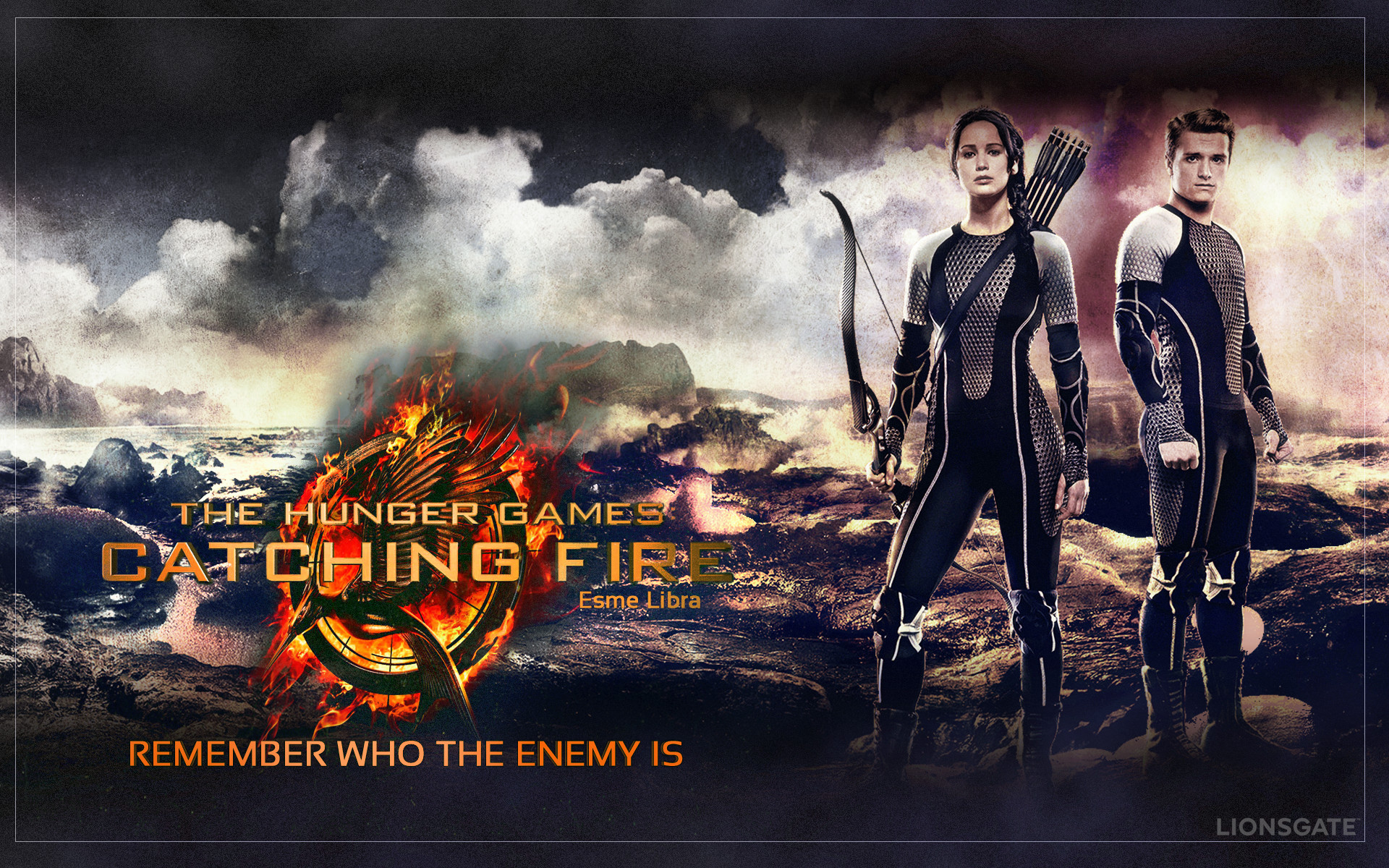 1920x1200 ... The Hunger Games - Catching Fire Wallpaper by esme-libra