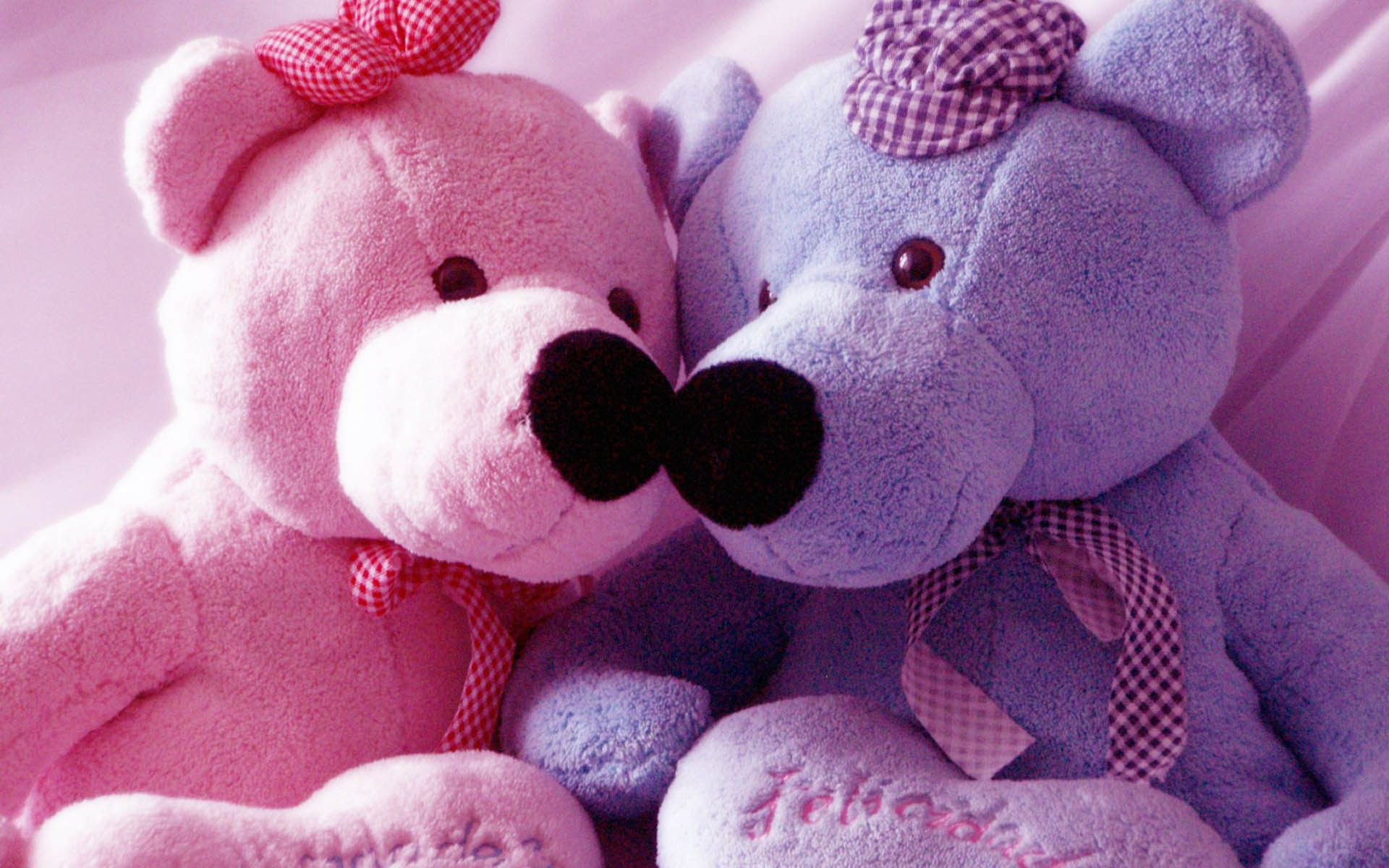 1920x1200 Pink And Blue Teddy Bear Wallpaper Computer 62 #7639 Wallpaper .