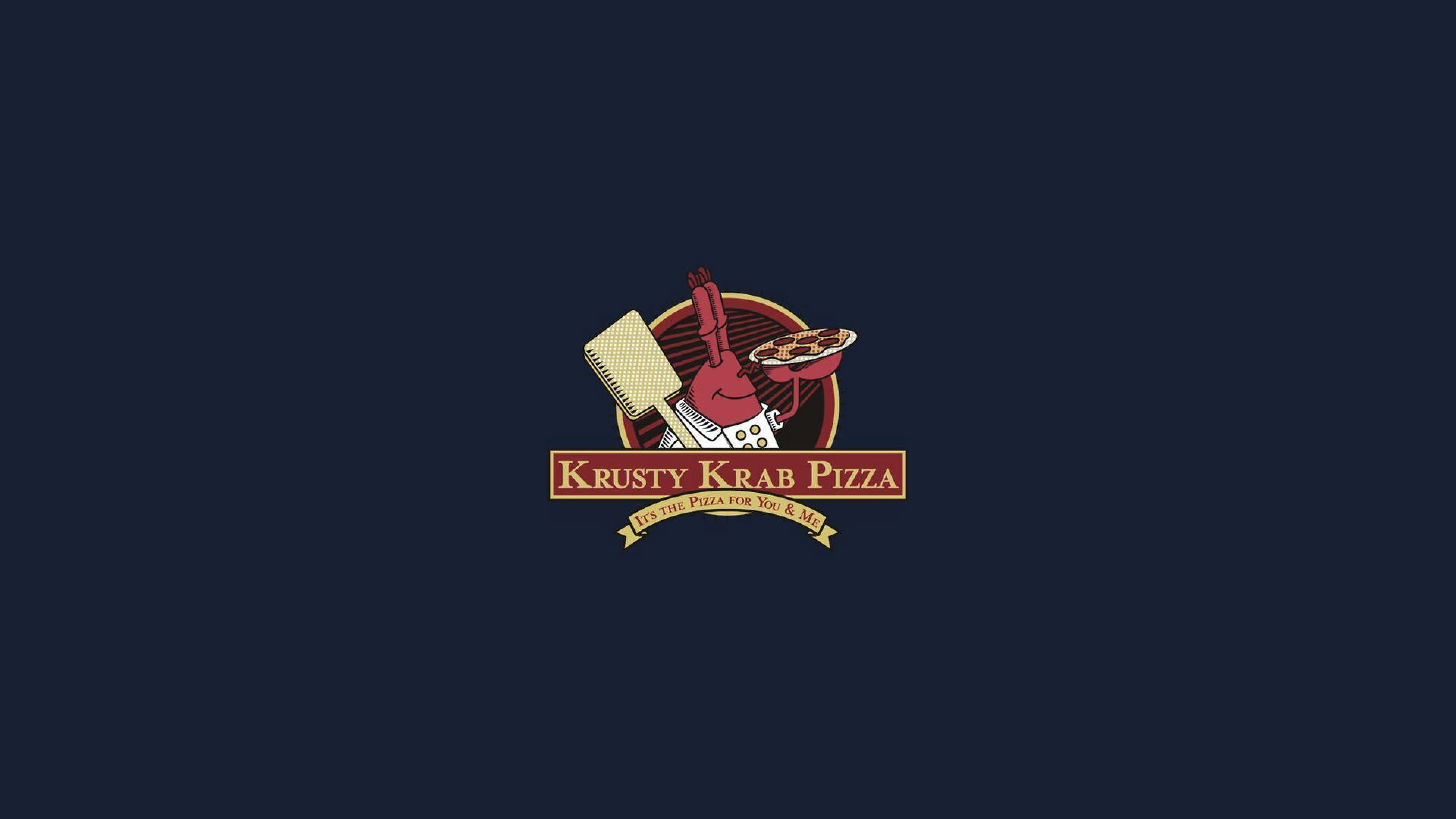 3840x2160 Preview Wallpaper Spongebob Squarepants Mr Krabs Logo Pizza