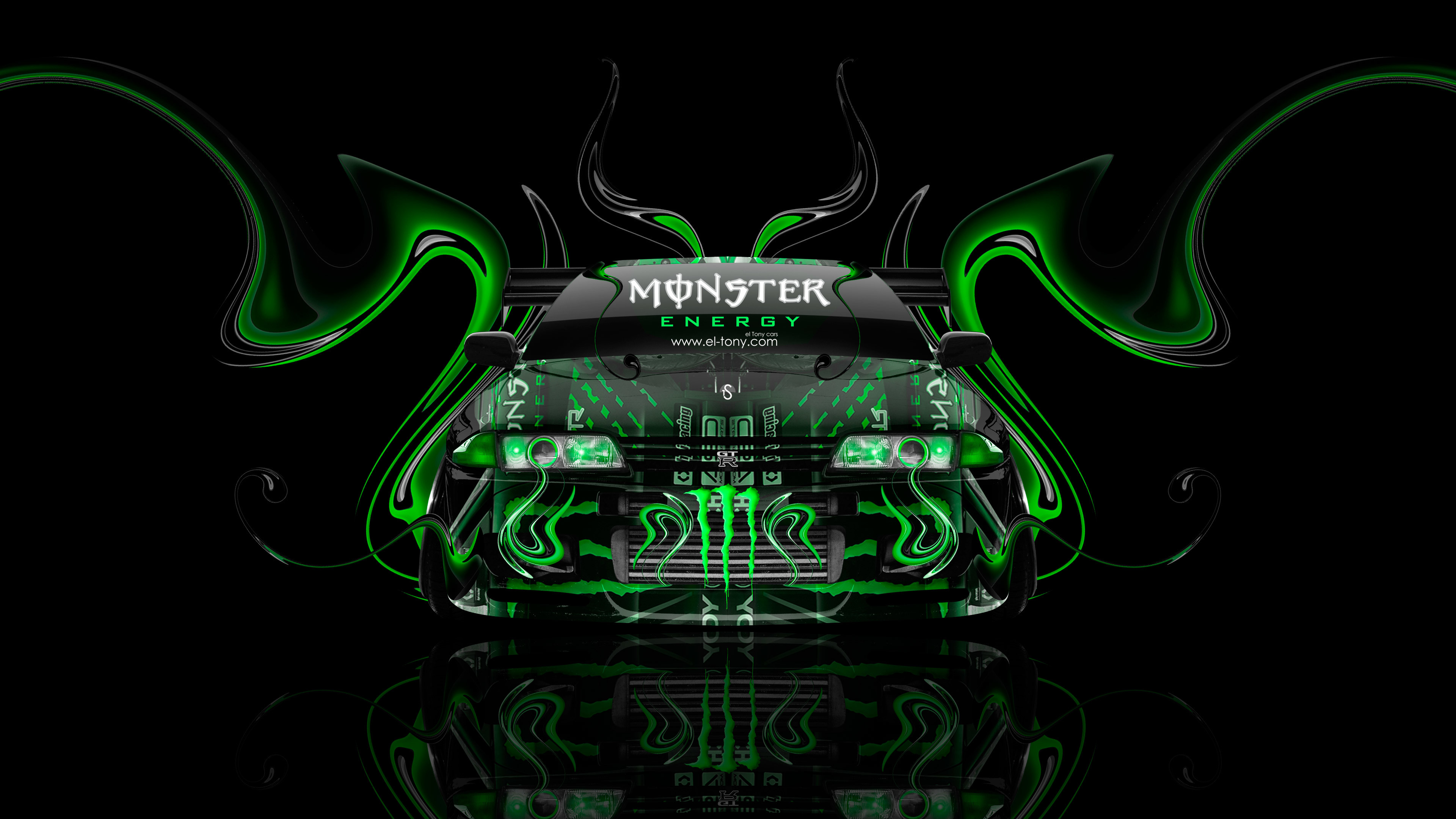 1920x1080 Monster Energy Toyota Supra Fantasy Green Plastic 2013