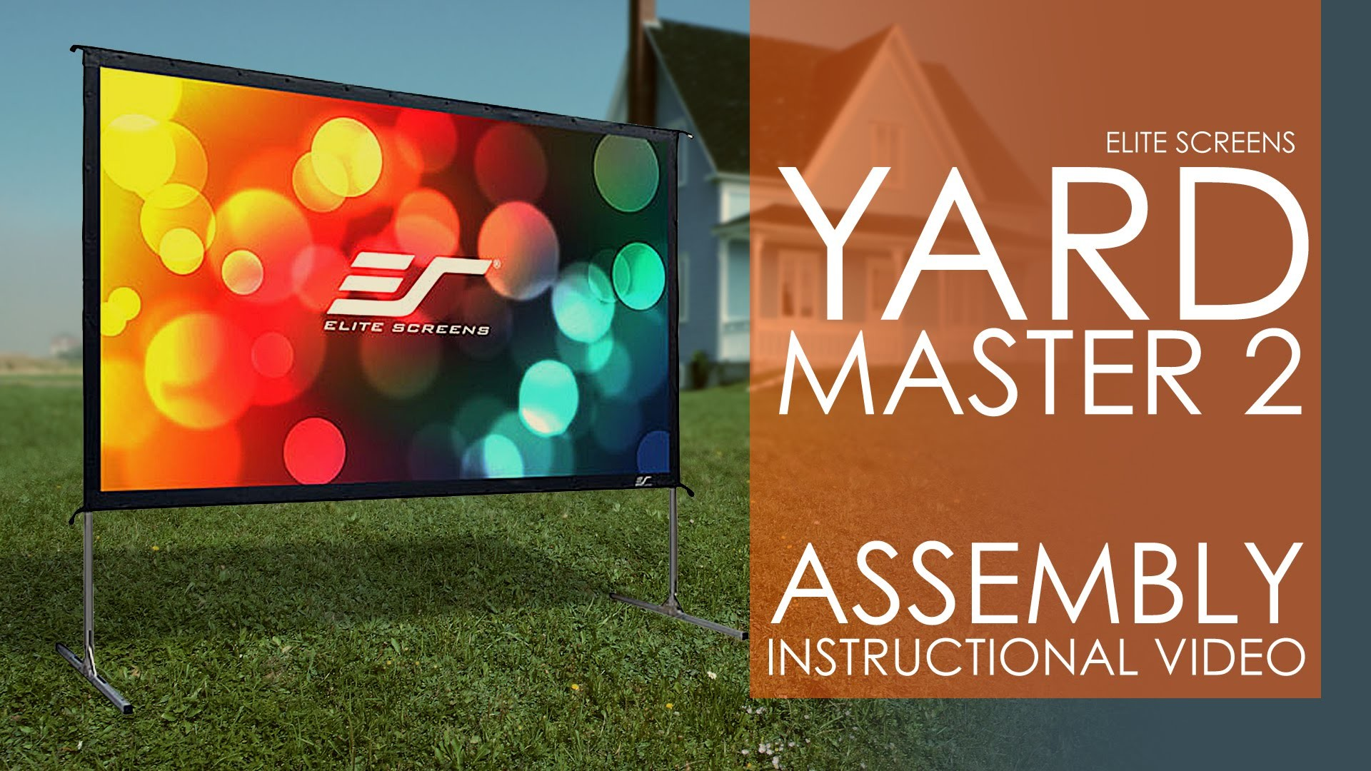 1920x1080 Elite Screens Yard Master 2 Outdoor Projection Screen Setup & Assembly -  YouTube