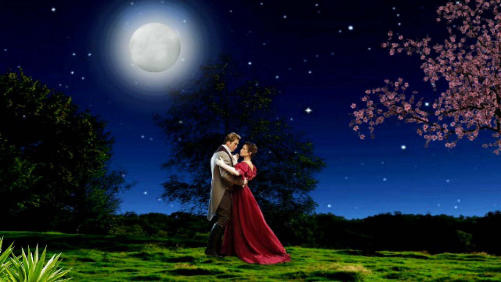 Love Couple With Moon Hd Wallpaper For Mobile: Moon And Stars Desktop Wallpaper (63+ Images