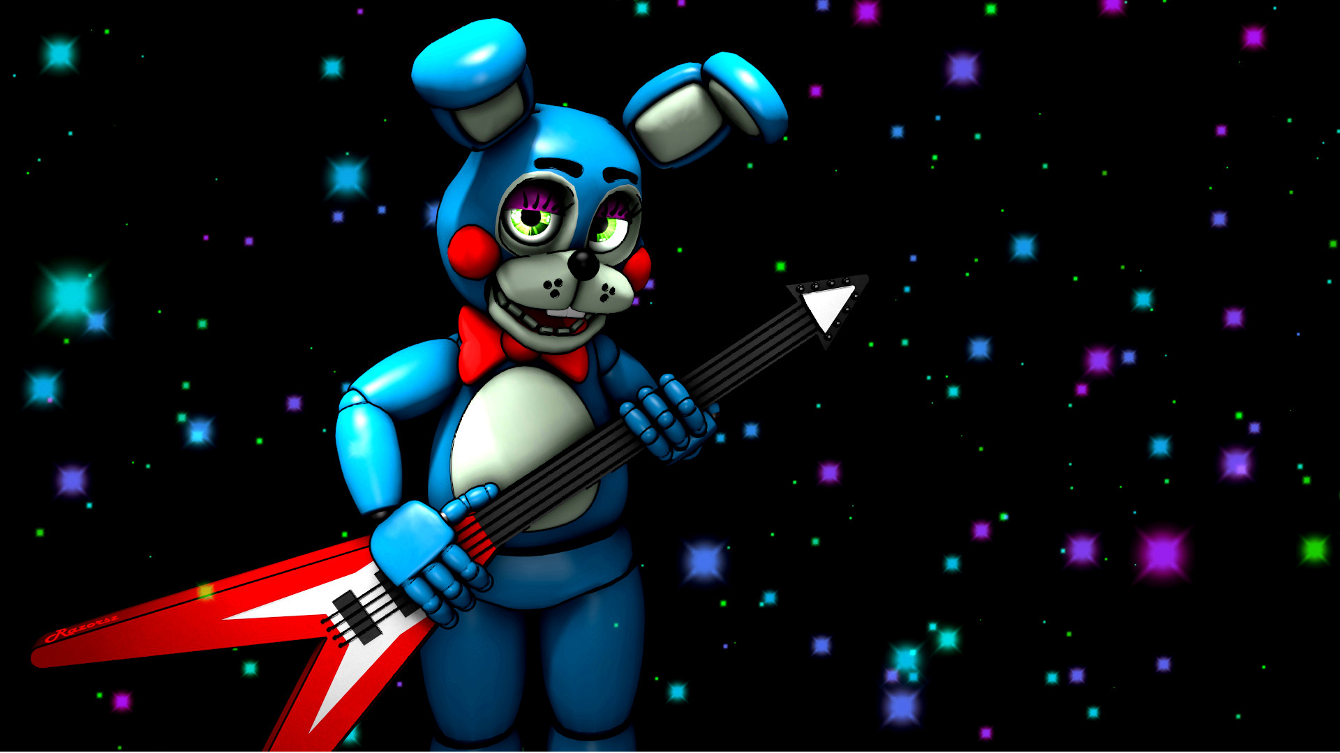 1920x1080 ... Toy Bonnie playing his Guitar by Razorsz