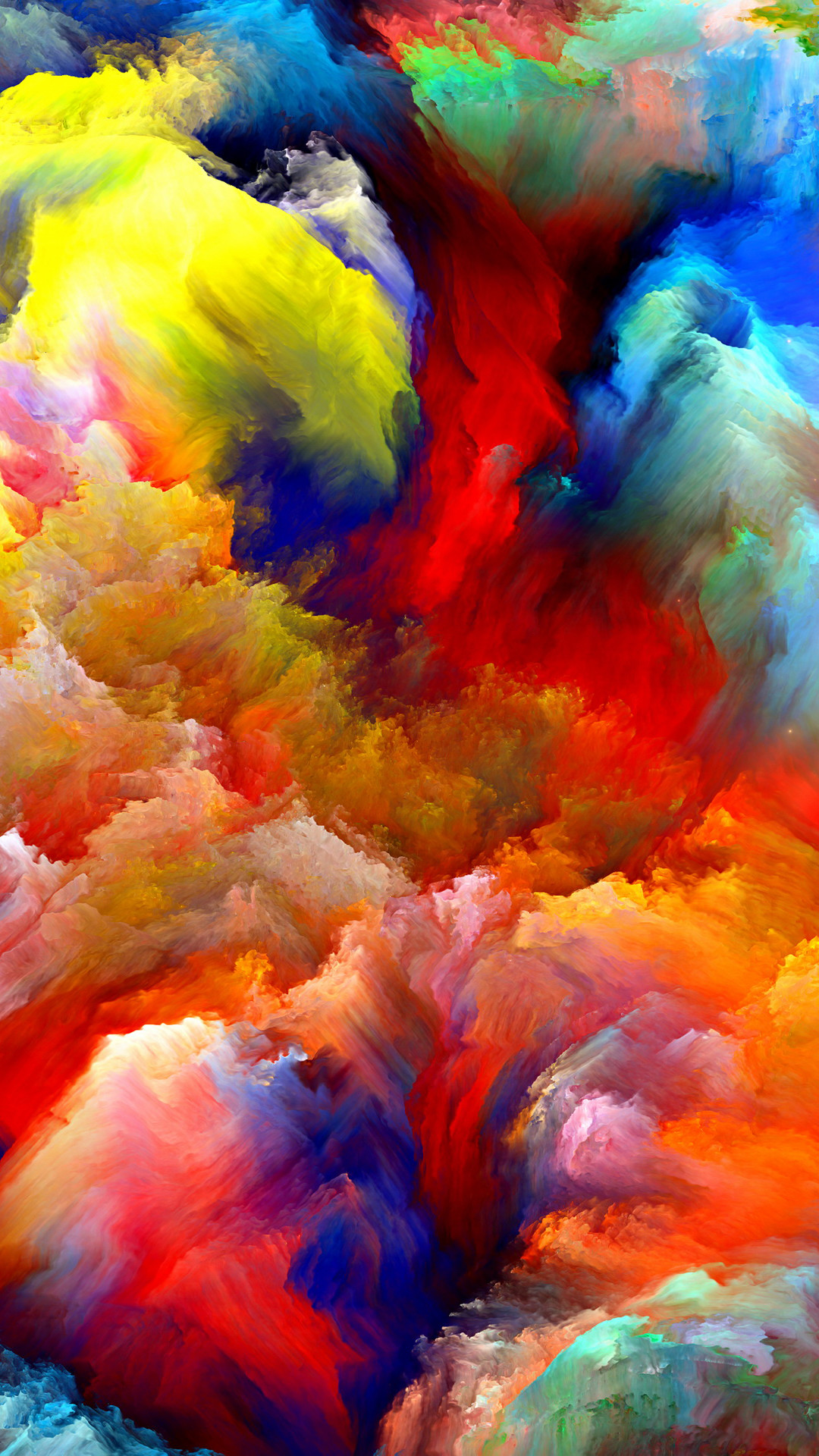 70892a3ad8b 1080x1920 Oil Painting Colorful Strokes iPhone 6 Plus HD Wallpaper