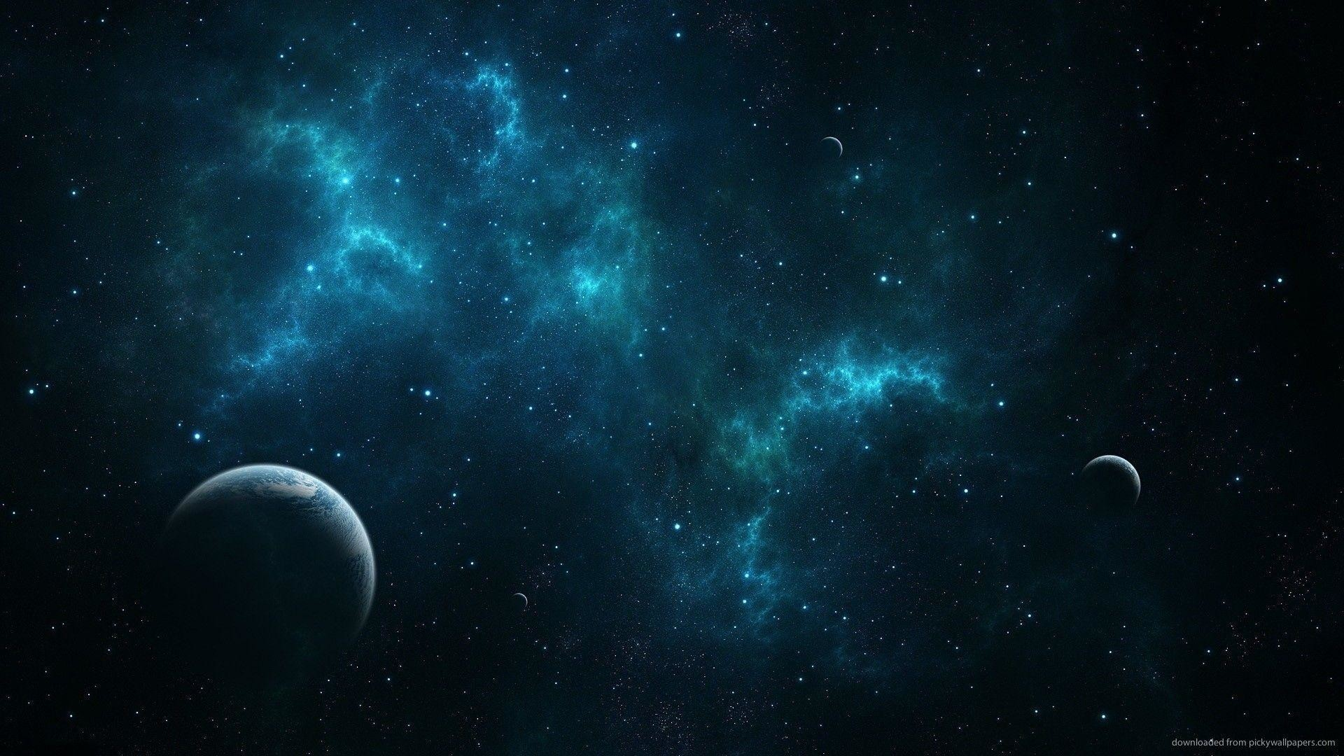 1920x1080  HD Deep Blue Space Wallpaper