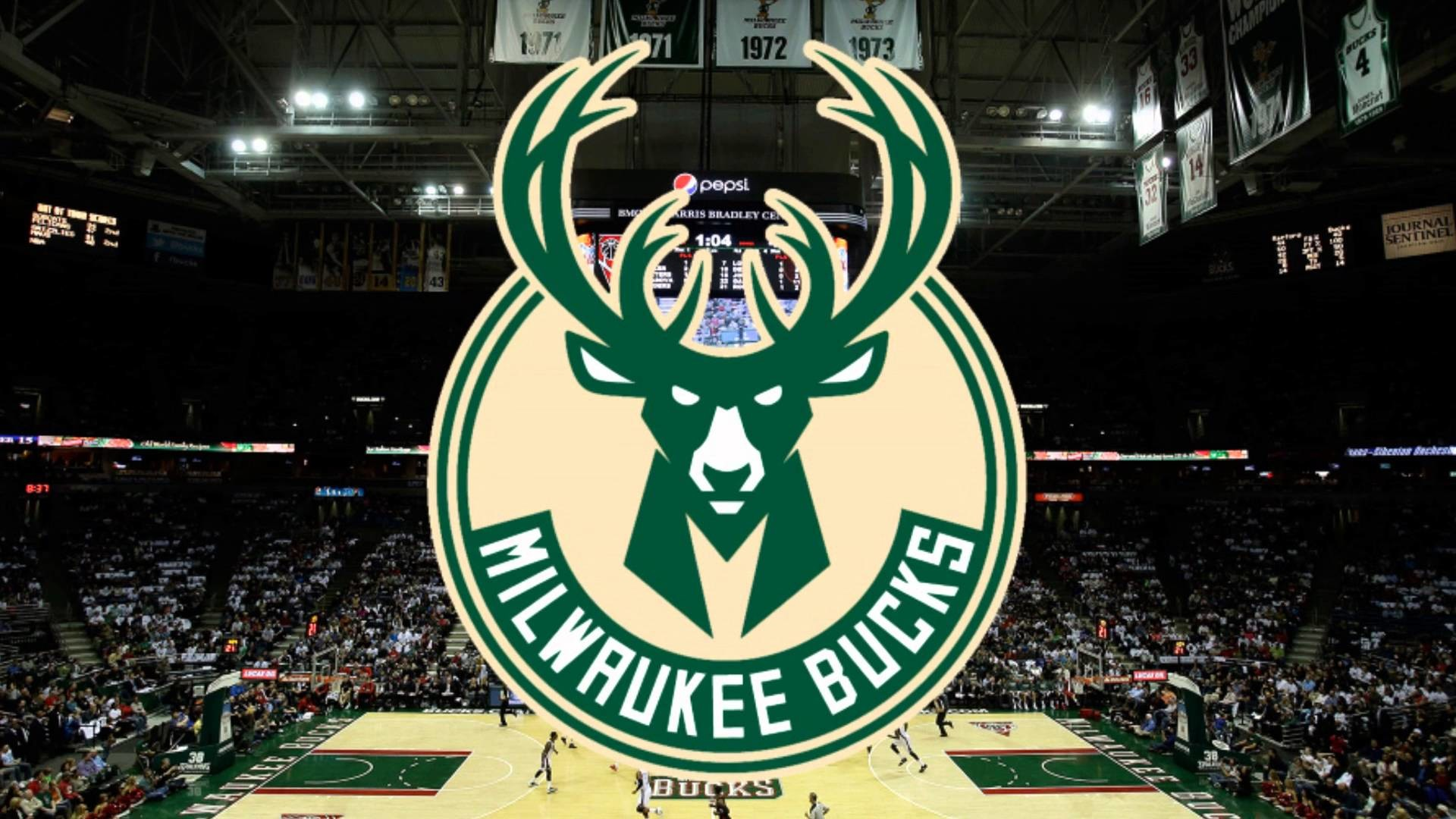 1920x1080 NBA - Milwaukee bucks animation 3D logo