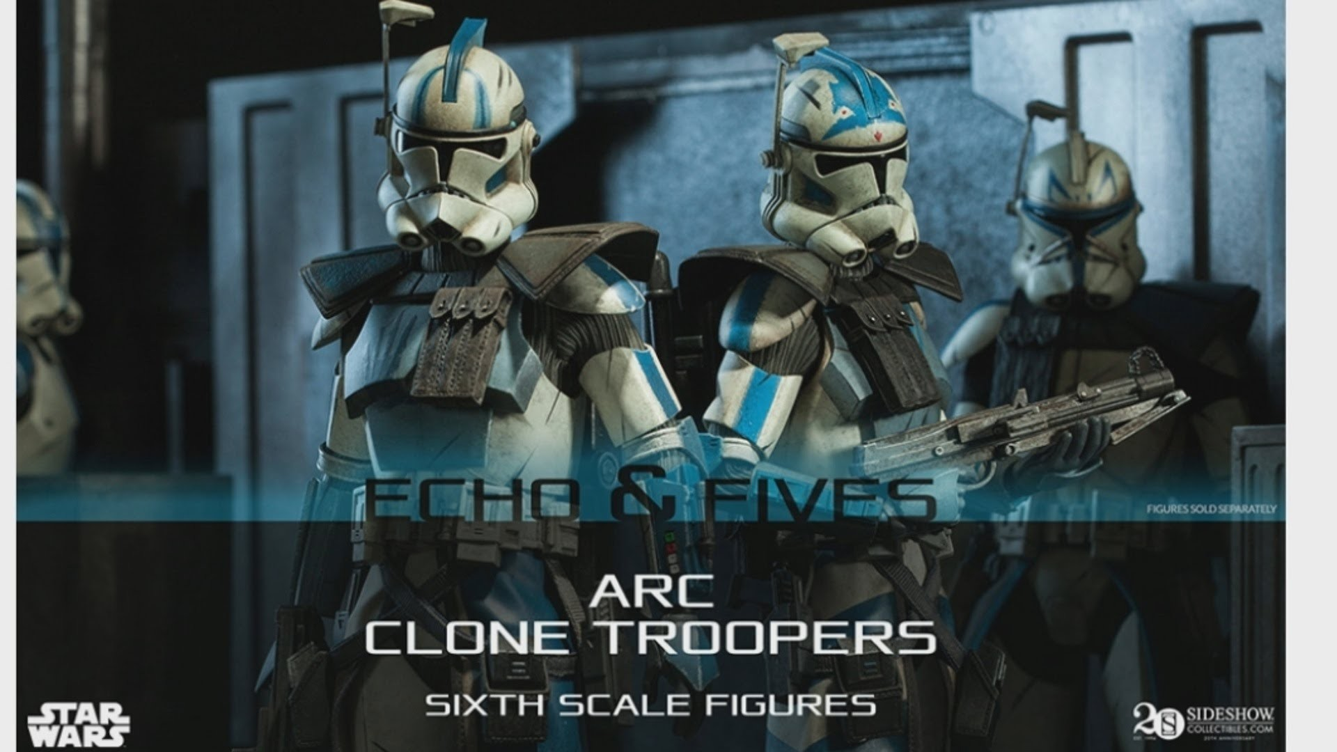1920x1080 Sideshow 1/6 Scale Arc Trooper Fives and Echo Announced 2015! HD - YouTube