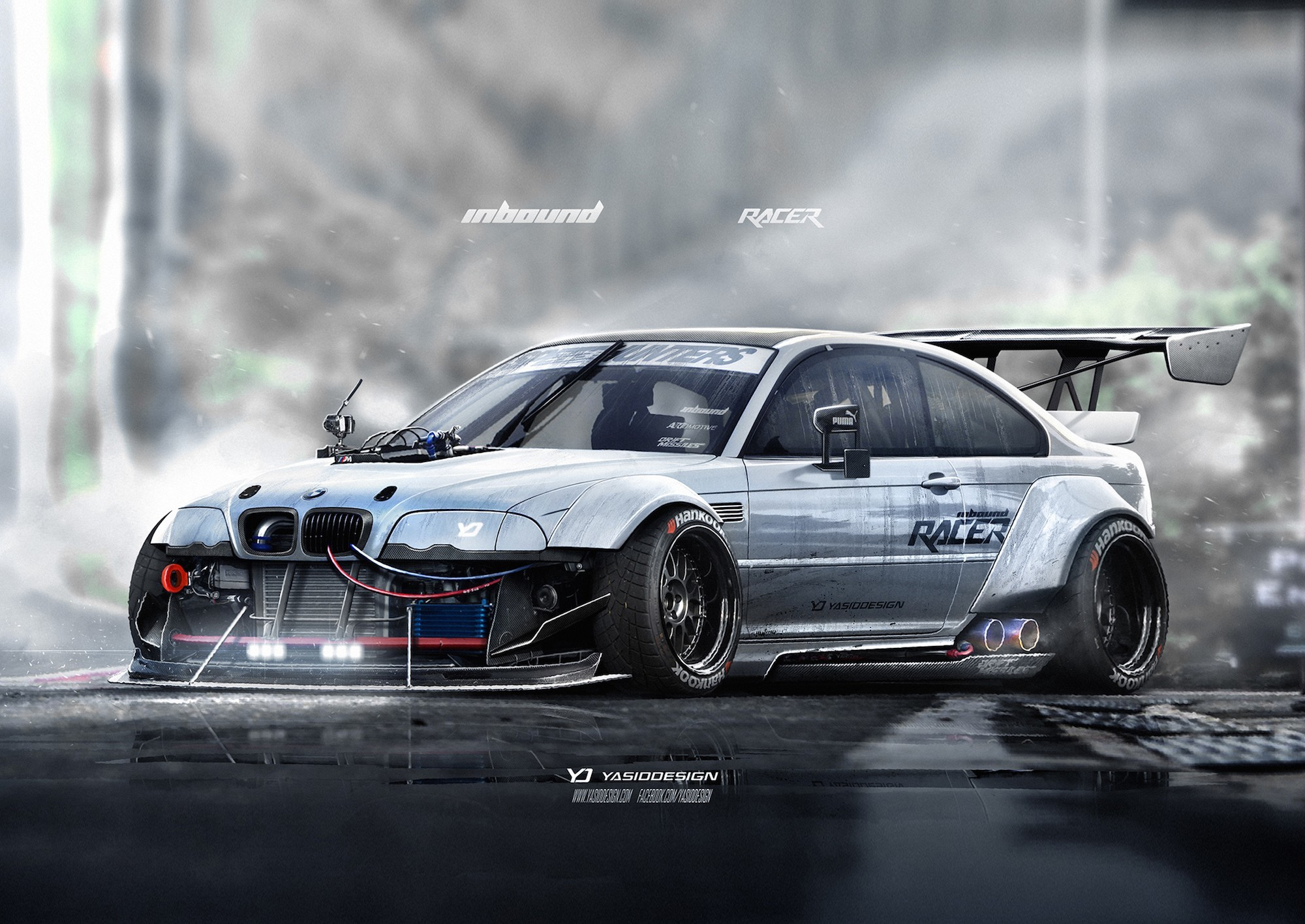 2000x1416 car, YASIDDESIGN, Render, Artwork, BMW, BMW M3 E46, BMW E46, Race Cars  Wallpapers HD / Desktop and Mobile Backgrounds