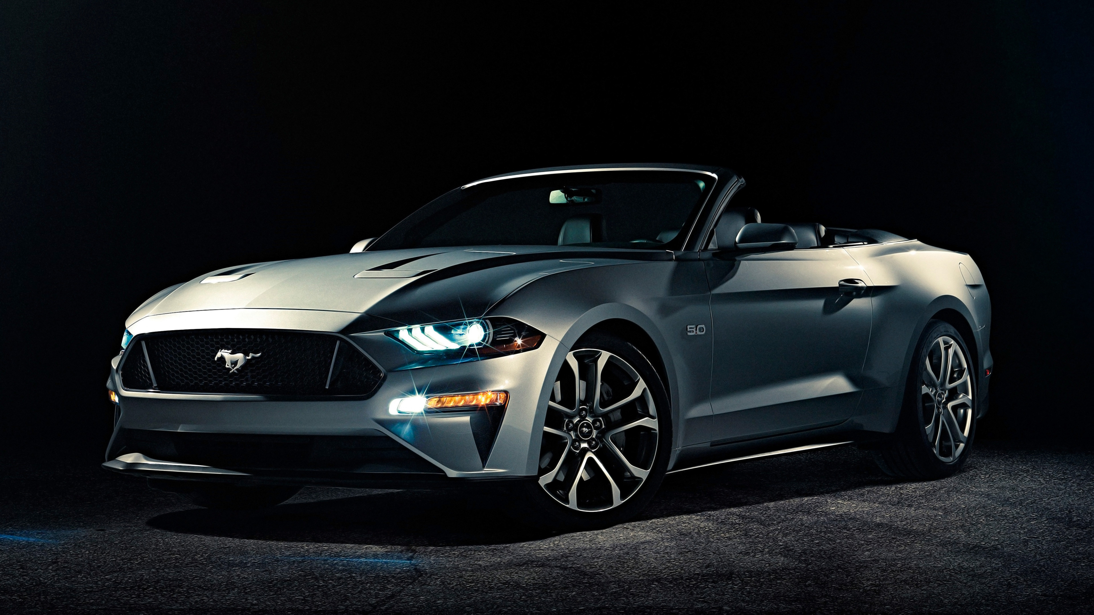 3840x2160 2018 Ford Mustang Convertible 4K