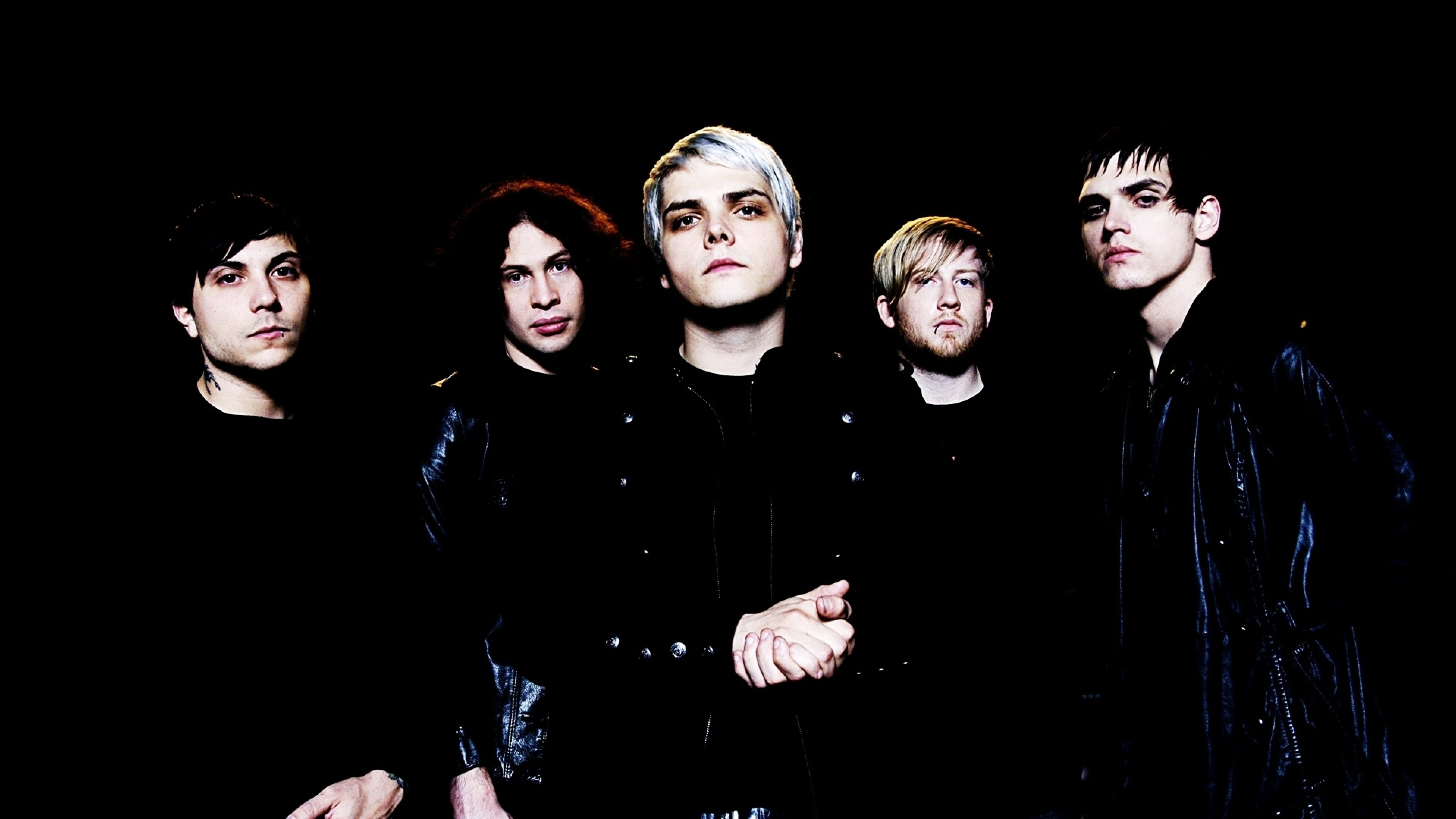 3840x2160  Wallpaper my chemical romance, band, members, look, background