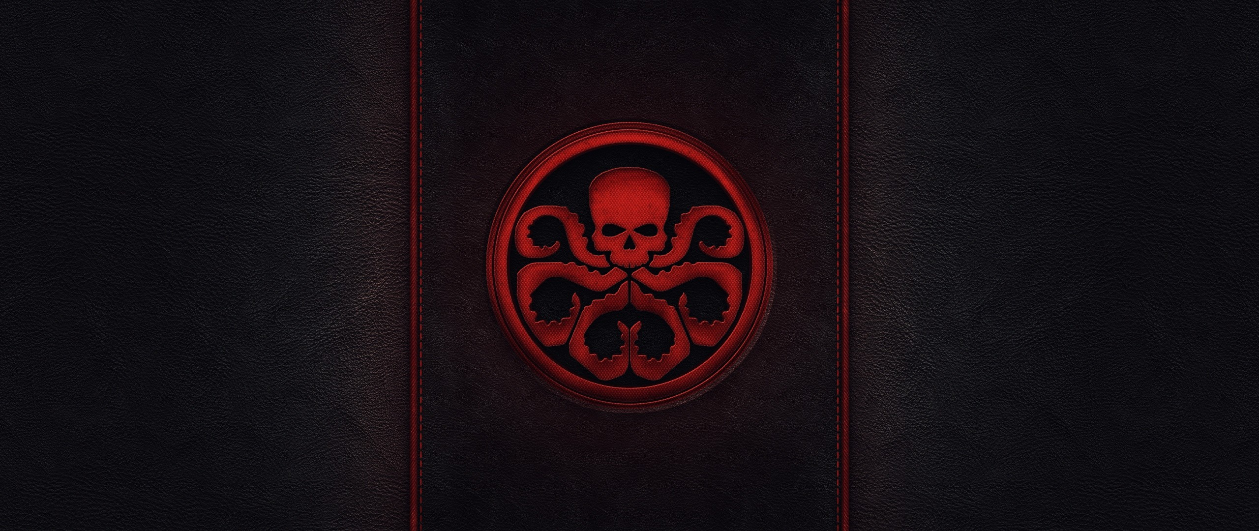 2560x1080  Wallpaper skull, captain america, style, minimalism, tentacles,  sign, hydra