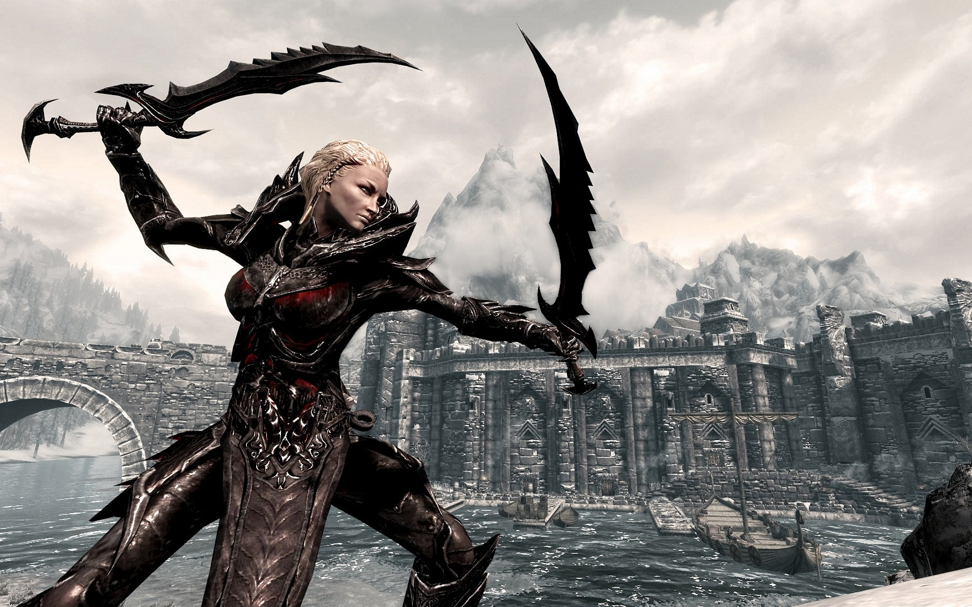 1920x1200 Best Picture skyrim daedric armor wallpaper - I Gamers Hood