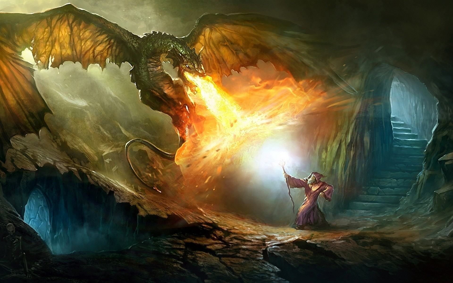 Wizards and dragons wallpapers 65 images - Dragon backgrounds 1920x1080 ...