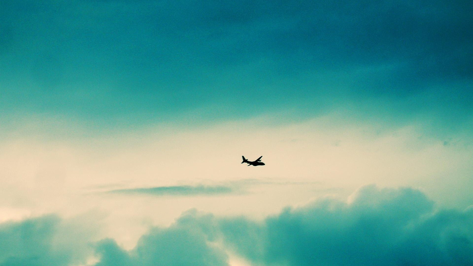 1920x1080 Aircraft Turquoise Clouds Desktop Wallpaper Uploaded by DesktopWalls