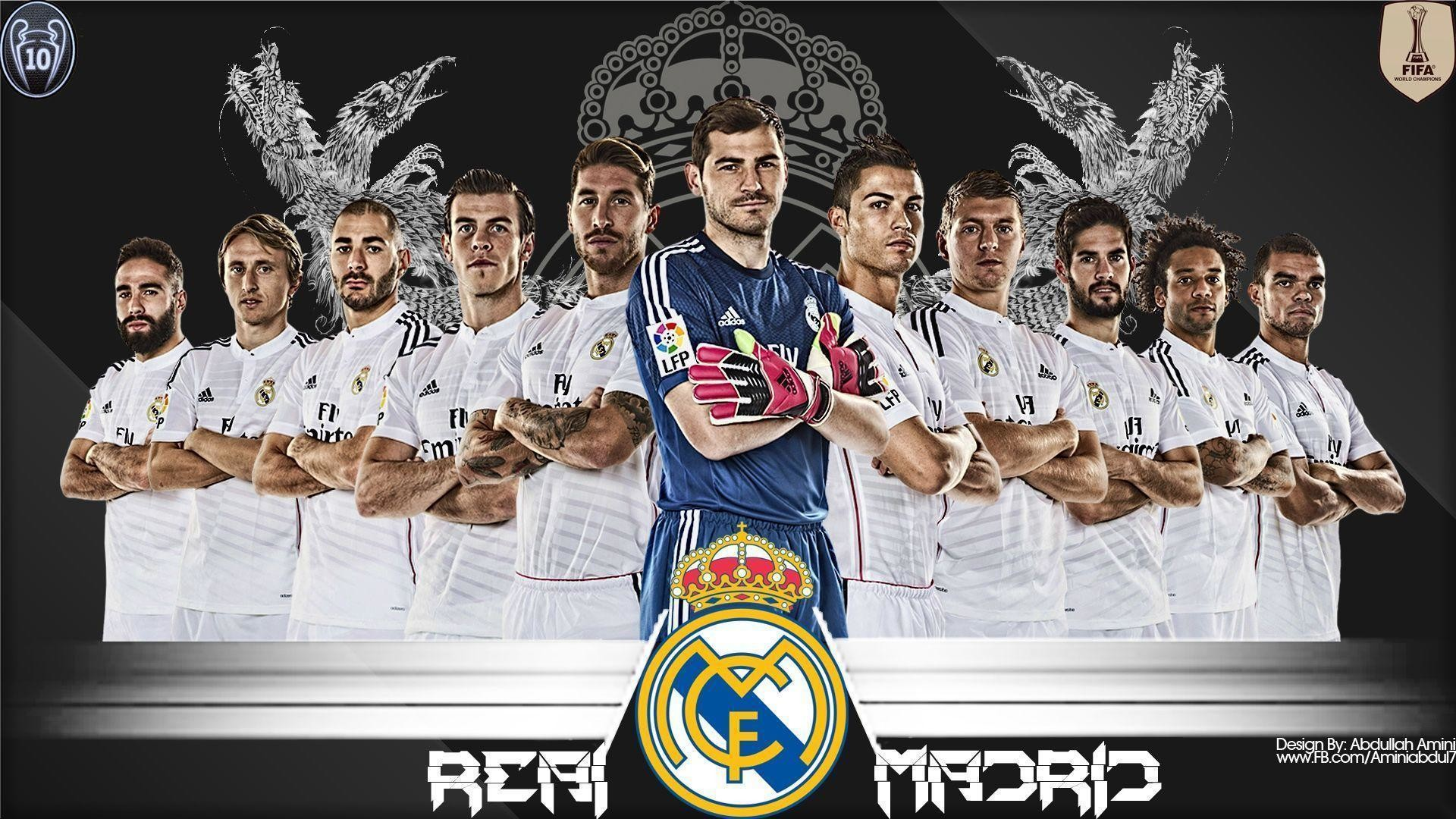 1920x1080 Real Madrid Wallpaper Full Team Real Madrid Logo Wallpaper 2015 5 .