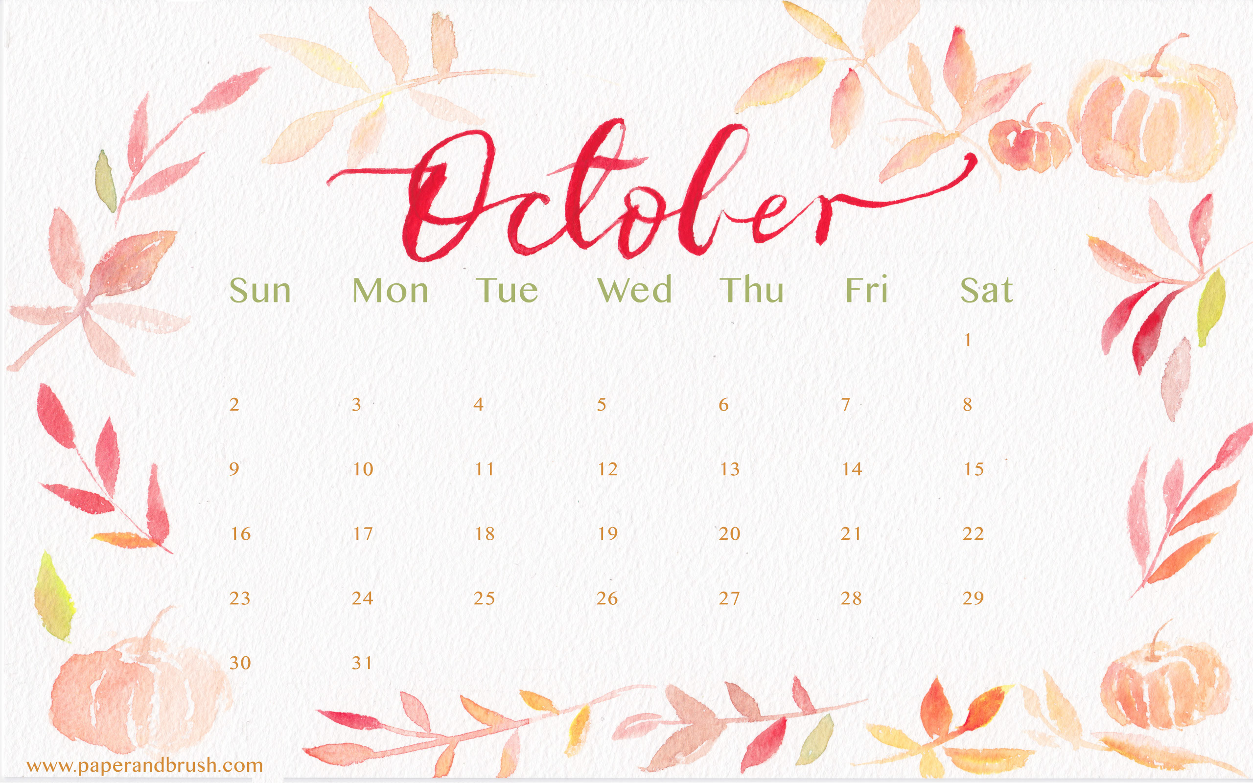 Calendar Wallpaper Mac : October wallpaper backgrounds images