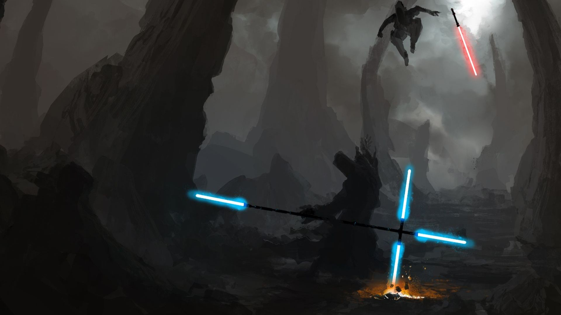 1920x1080 star-wars-lightsaber-battle-artistic-hd-wallpaper--2313.jpg  (1920×1080) | #STAR WARS | Pinterest | Character concept
