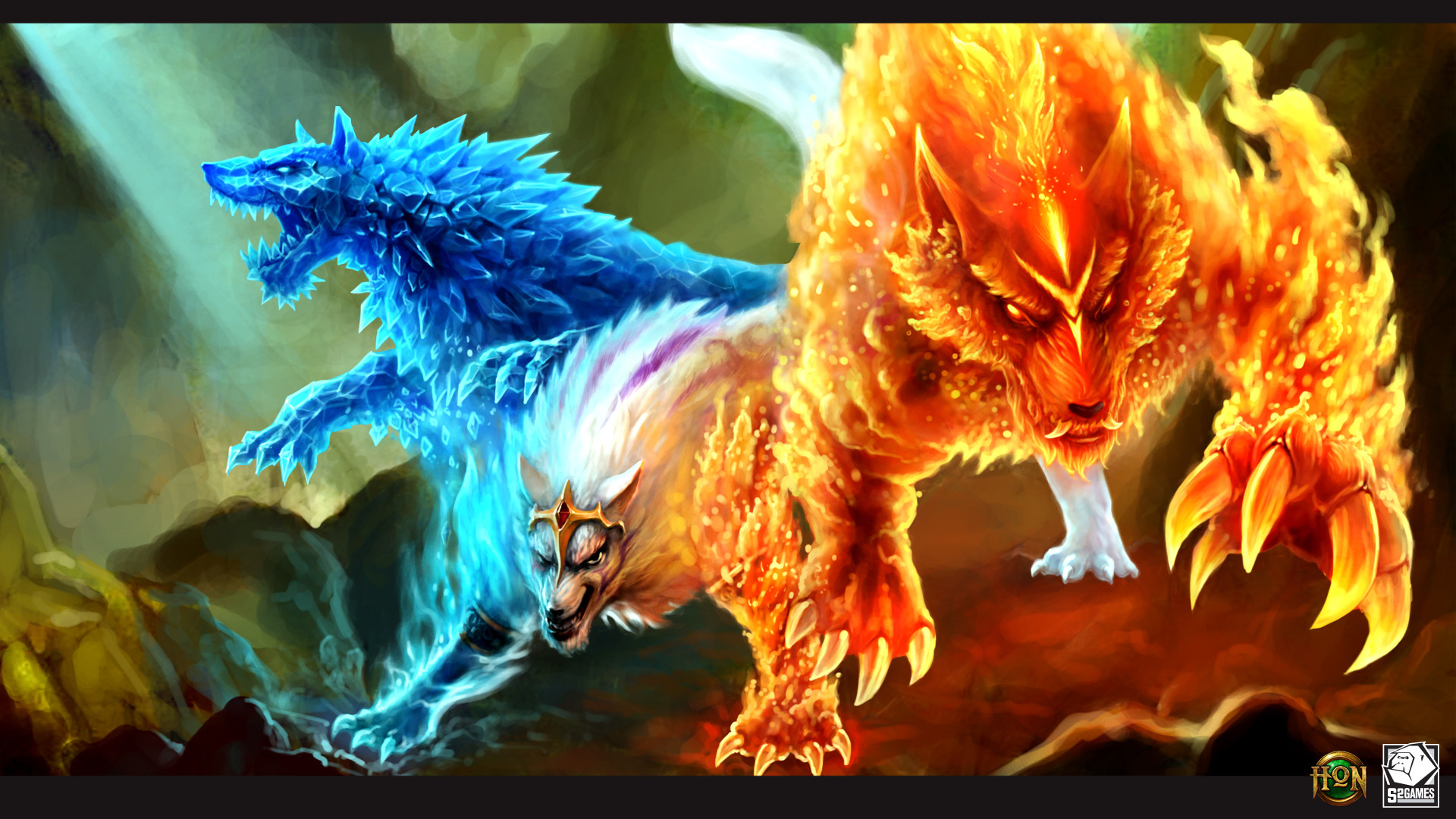 Fire Wolf Wallpaper 61 Images