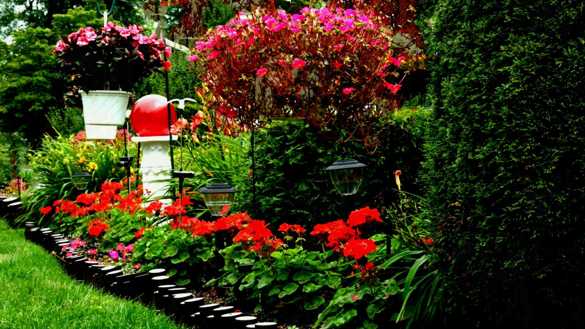 1920x1080 flower garden wallpaper free download http refreshrose blogspot com