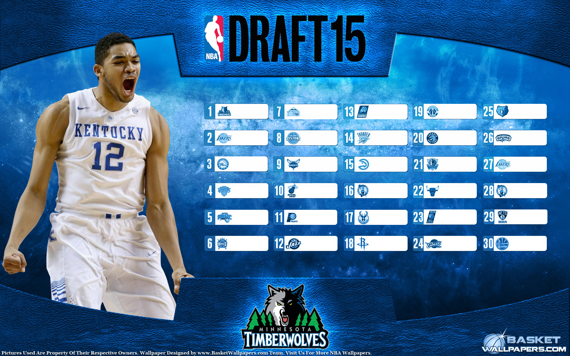 1920x1200 Karl-Anthony Towns 2015 NBA Draft Wallpaper