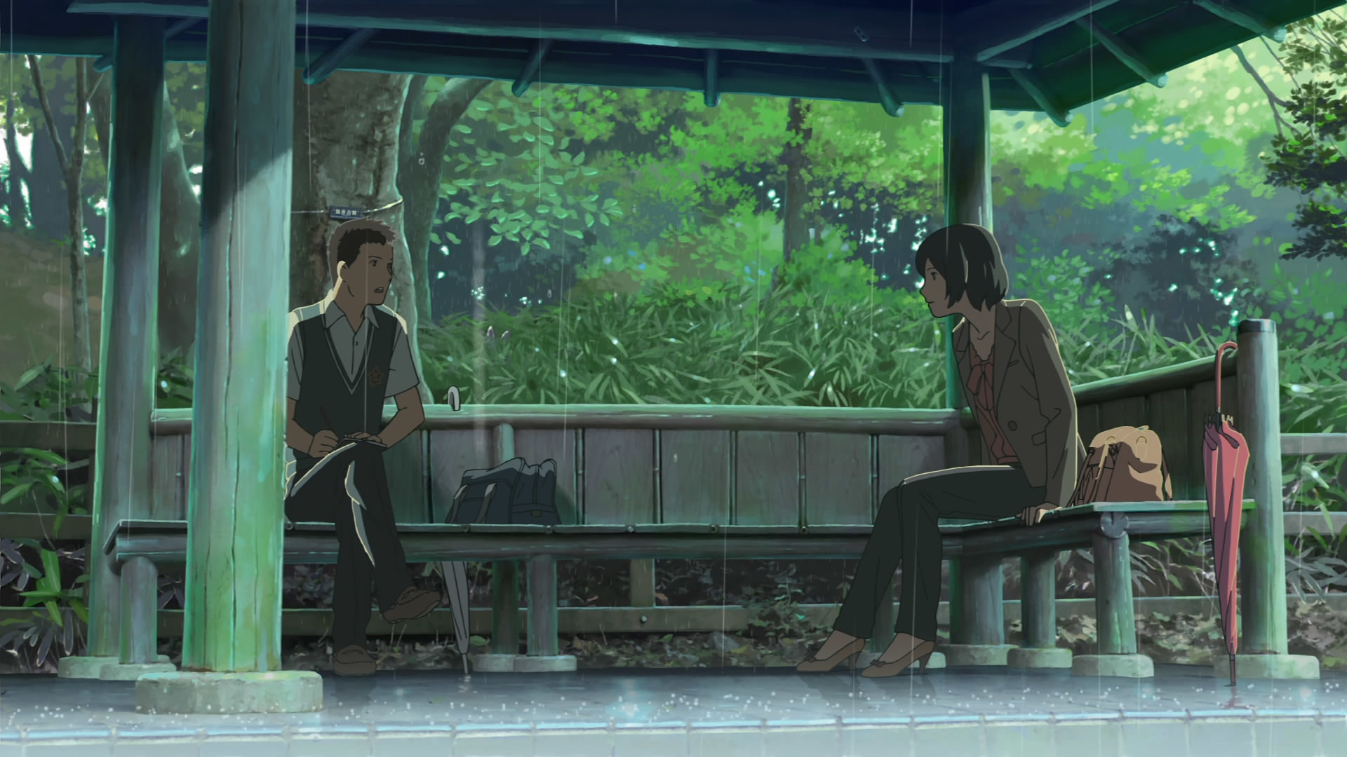 1920x1080 The Garden of Words (Makoto Shinkai) ...